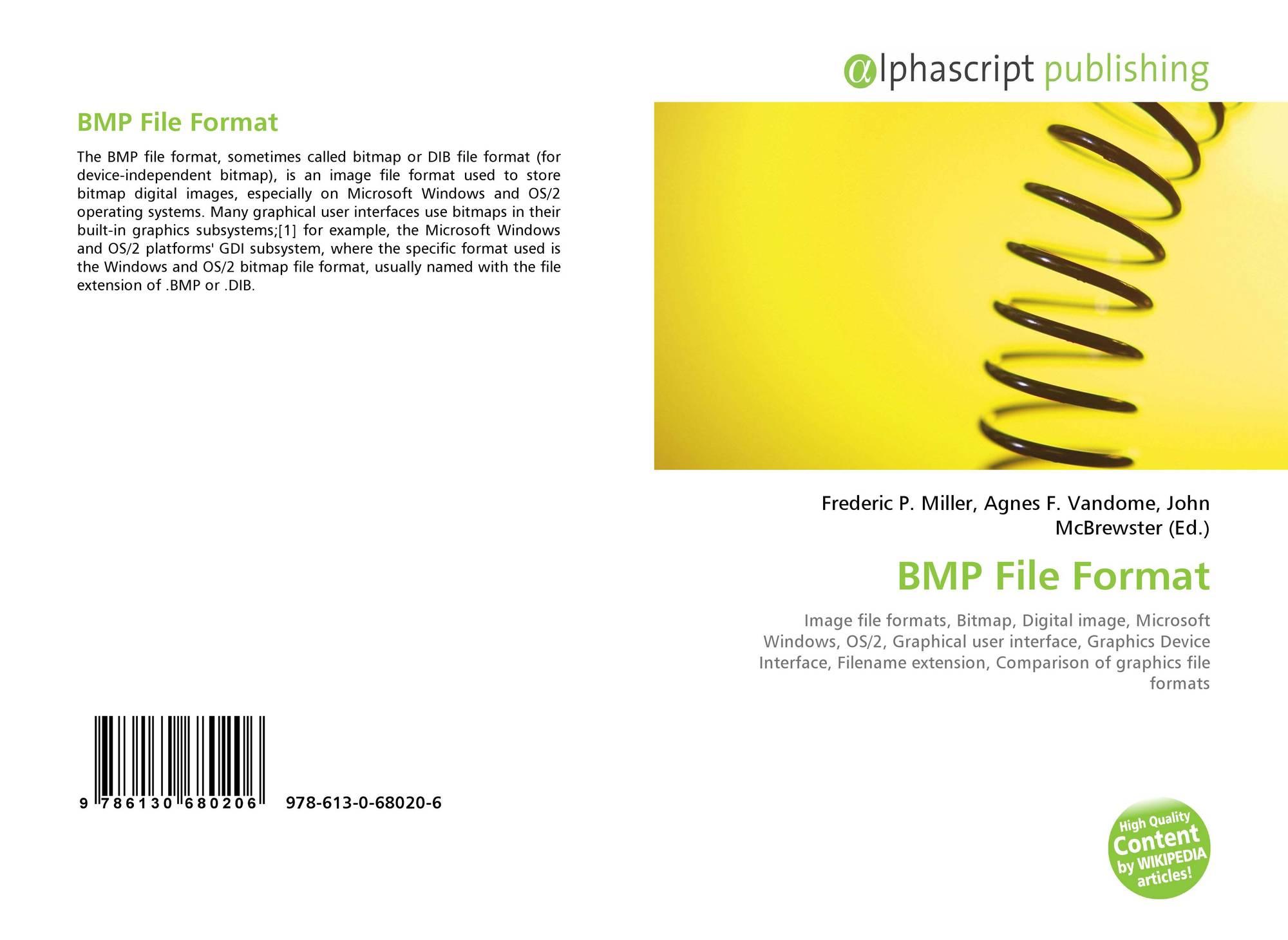 BMP File Format, 978-613-0-68020-6, 6130680201 ,9786130680206