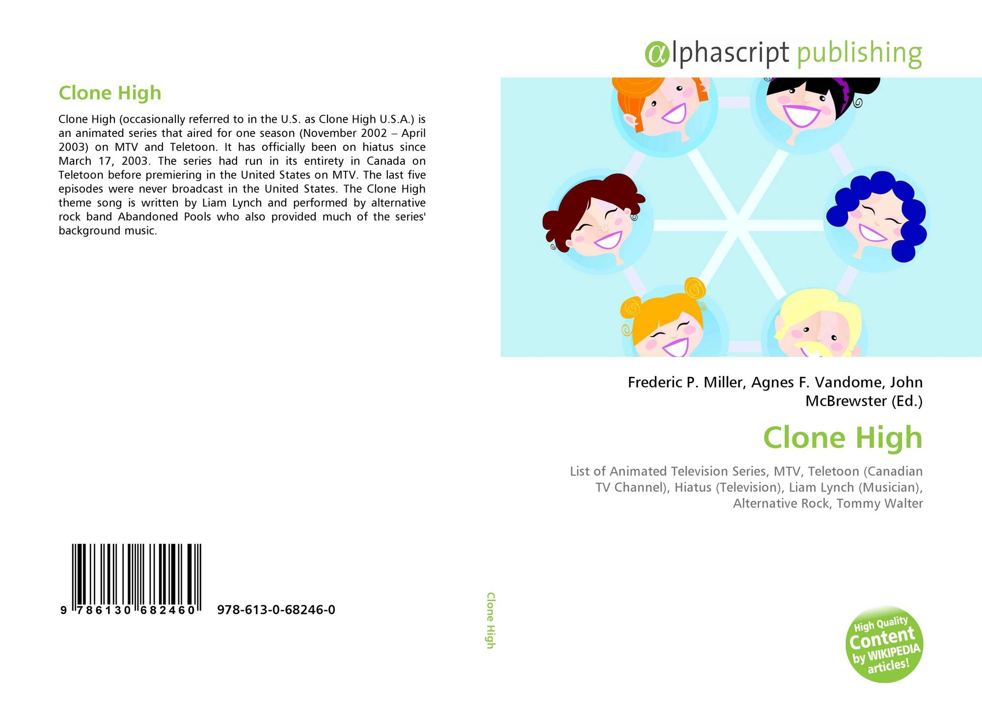 Clone High 978 613 0 68246 0 6130682468 9786130682460
