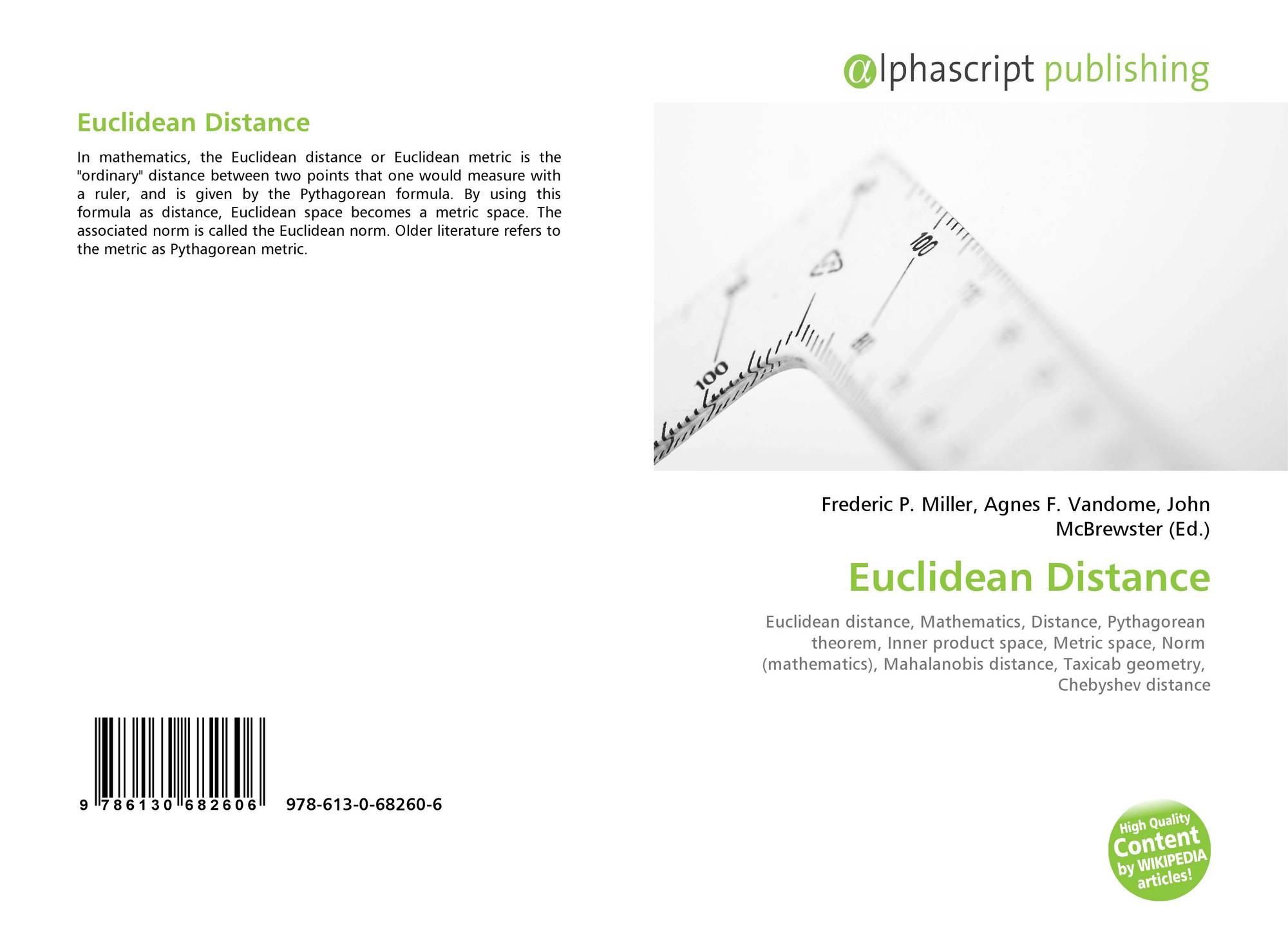 Euclidean Distance, 978-613-0-68260-6, 6130682603 ,9786130682606