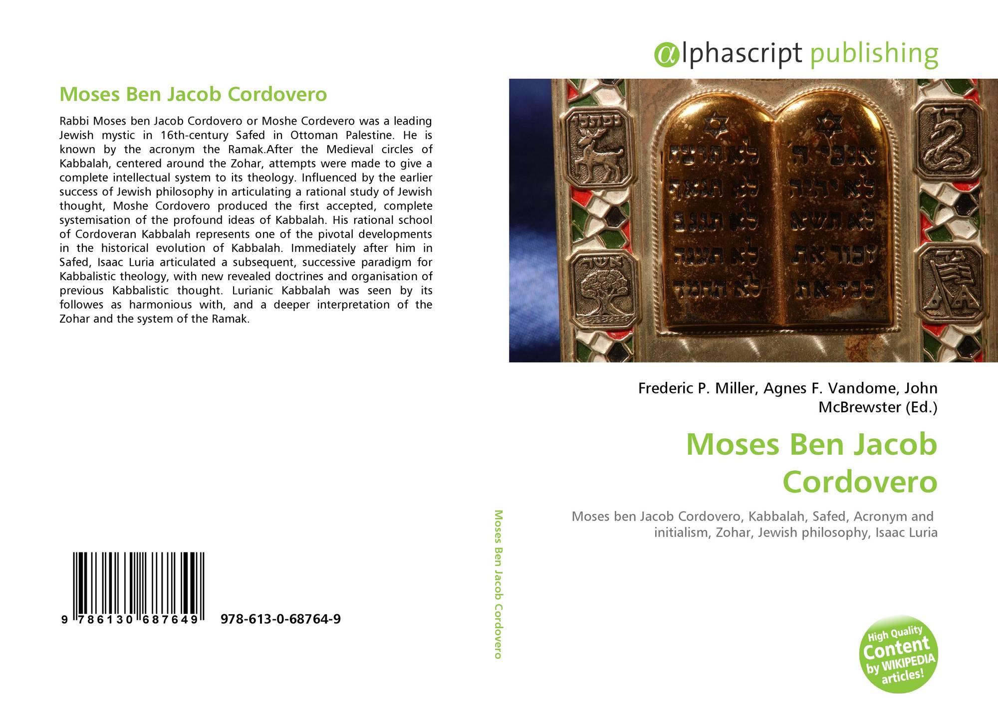 Moses Ben Jacob Cordovero, 978-613-0-68764-9, 6130687648