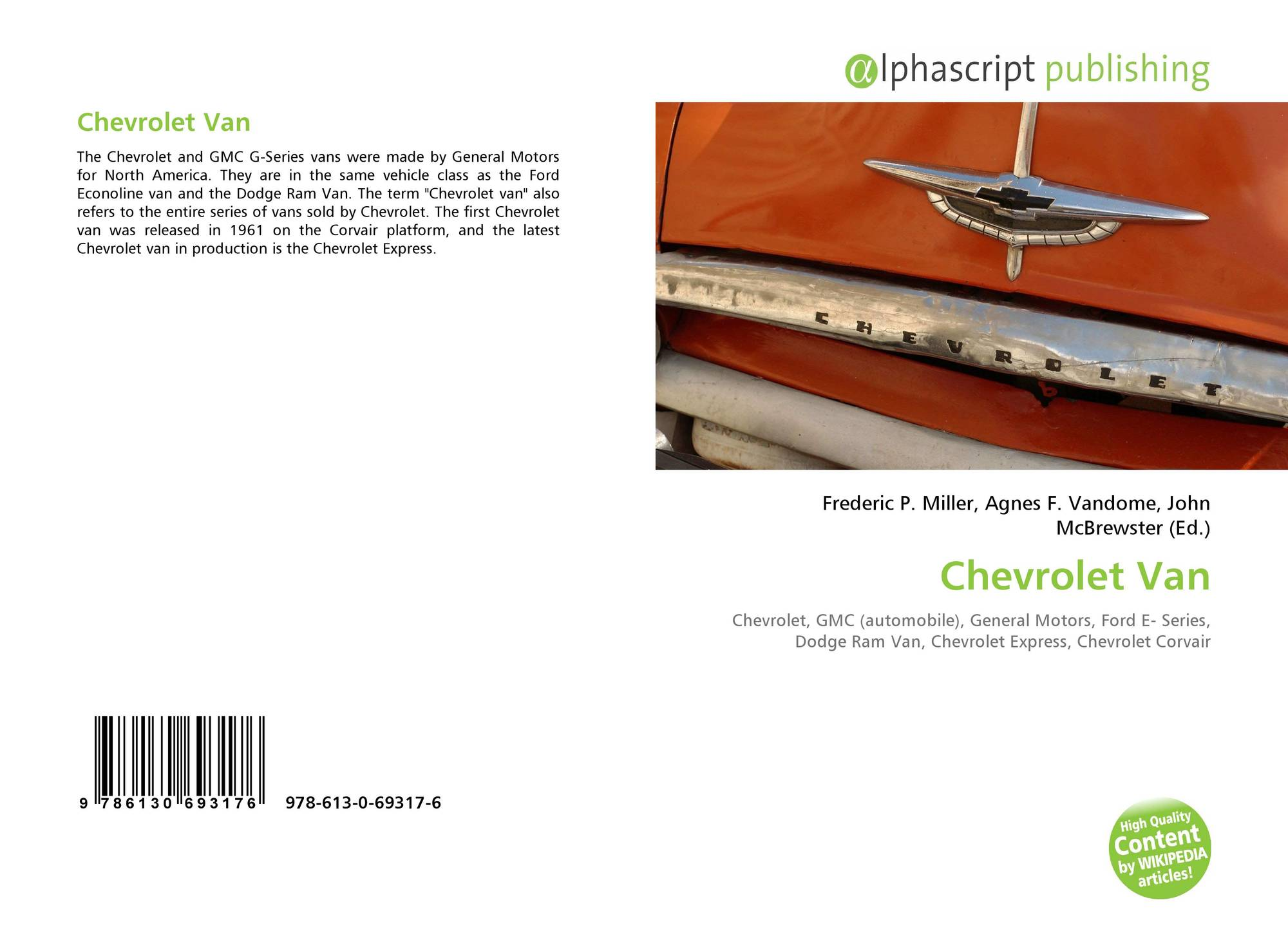 be6f8eacfa Bookcover of Chevrolet Van