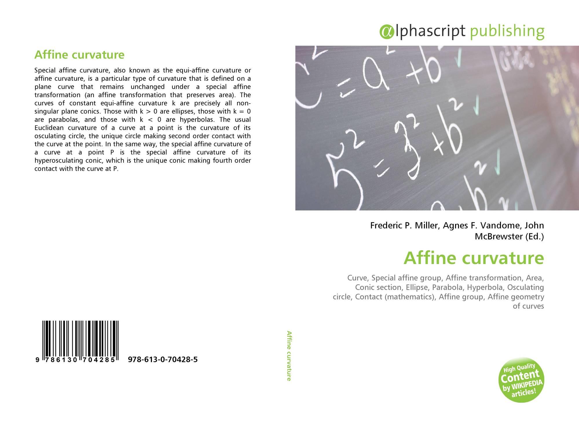 Affine curvature, 978-613-0-70428-5, 6130704283 ,9786130704285