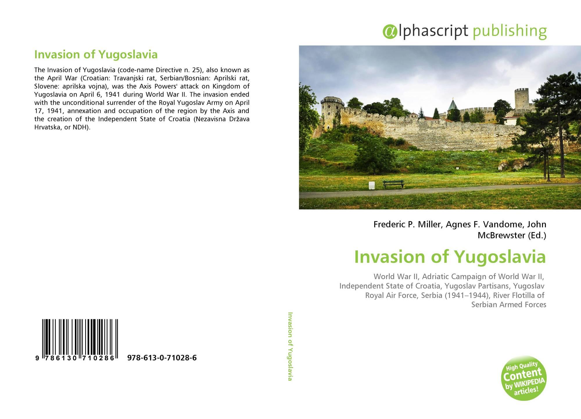 Bookcover of Invasion of Yugoslavia. Omni badge 9307e2201e5f762643a64561af3456be64a87707602f96b92ef18a9bbcada116
