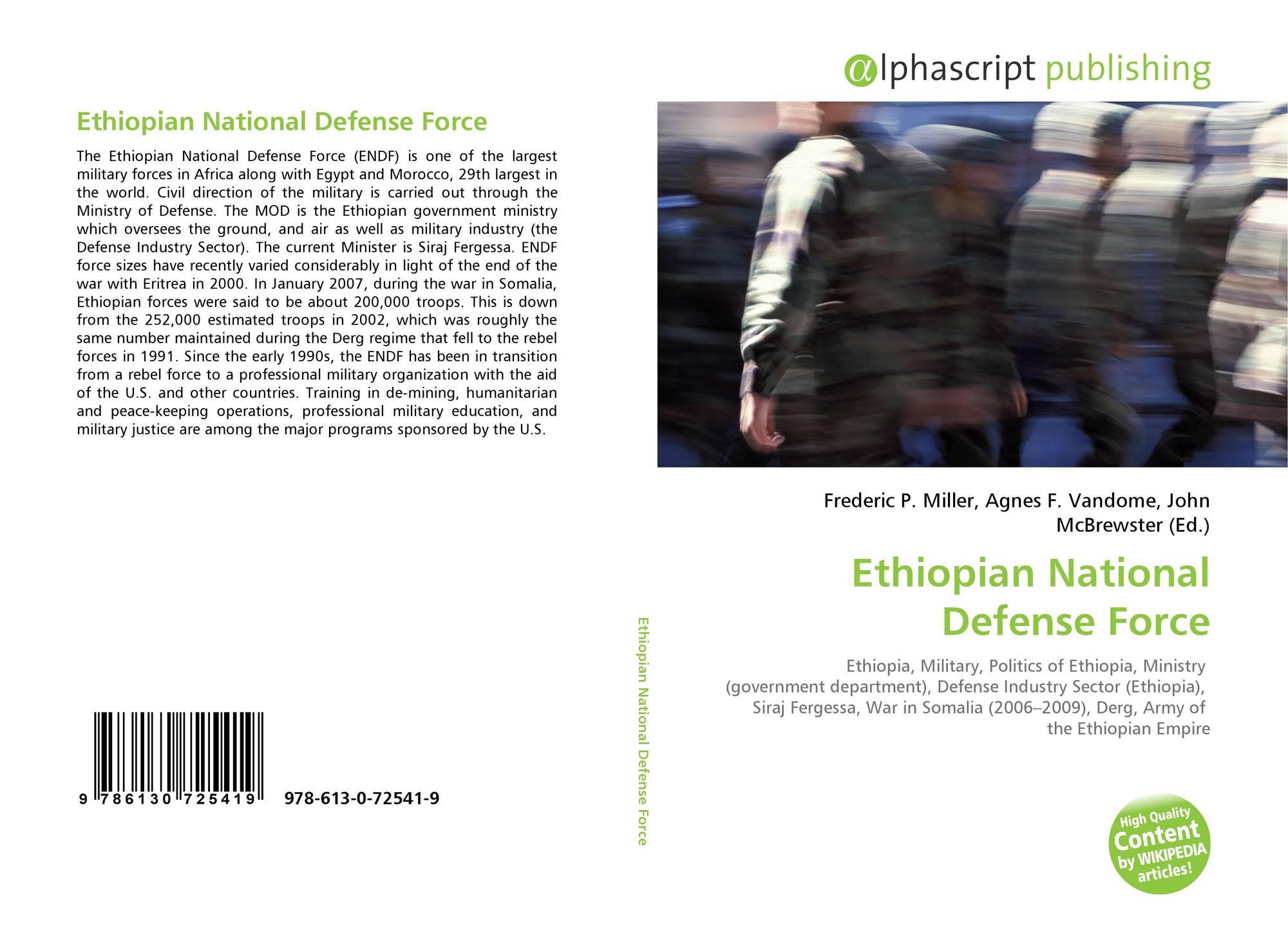 Ethiopian National Defense Force, 978-613-0-72541-9