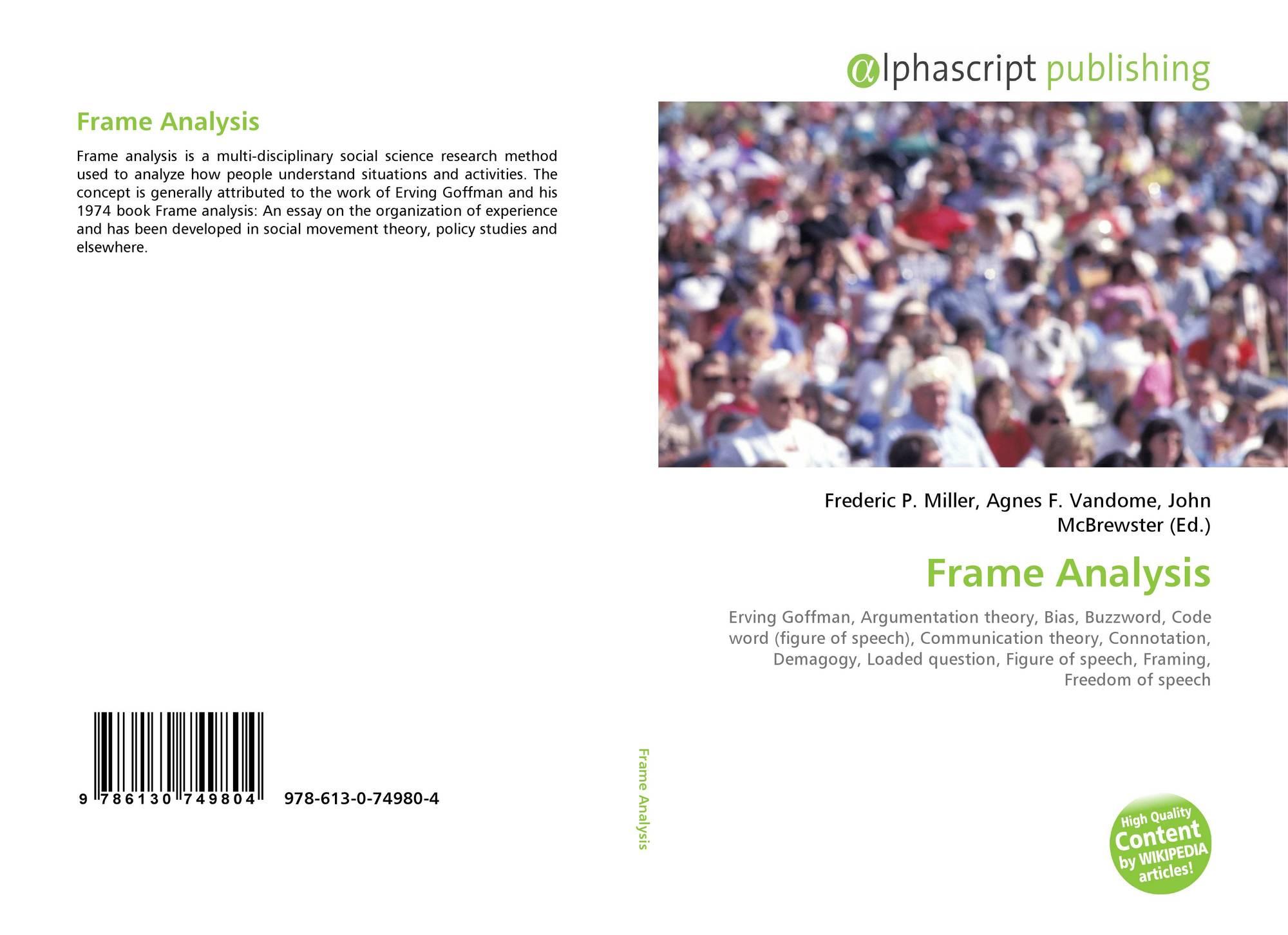 Frame Analysis, 978-613-0-74980-4, 6130749805 ,9786130749804