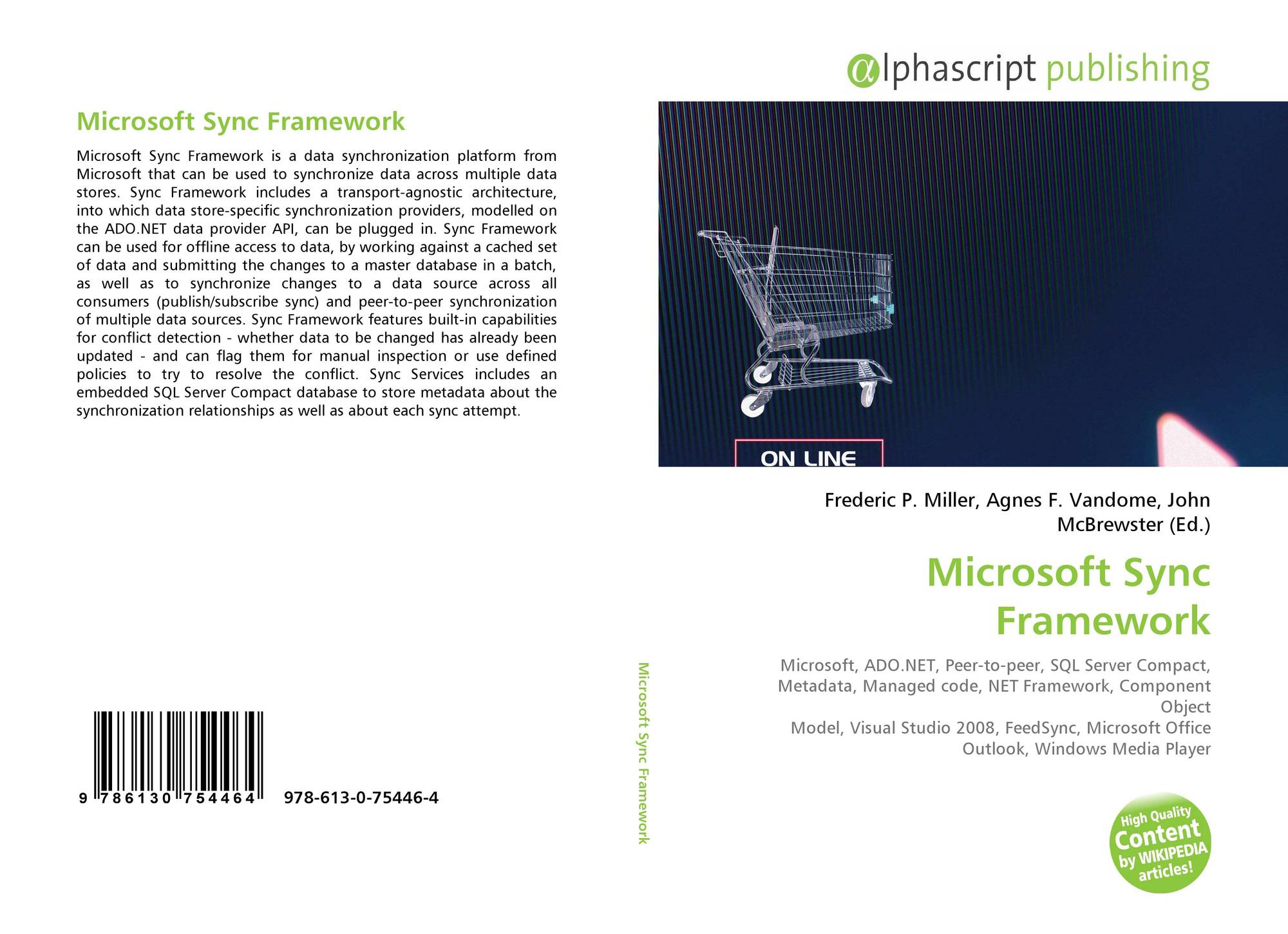 9786130754464 Microsoft Sync Framework 978 613 0 75446 4 6130754469 9786130754464