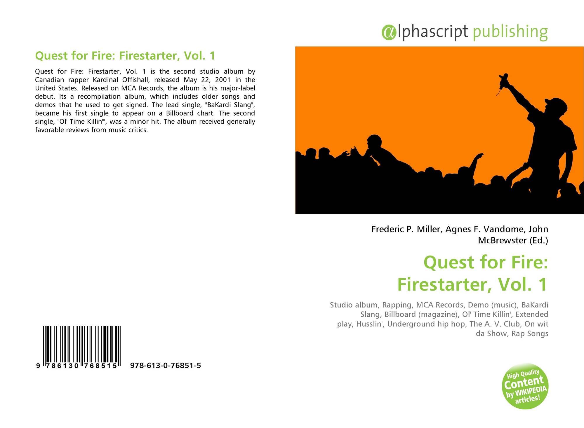 Quest for Fire: Firestarter, Vol  1, 978-613-0-76851-5
