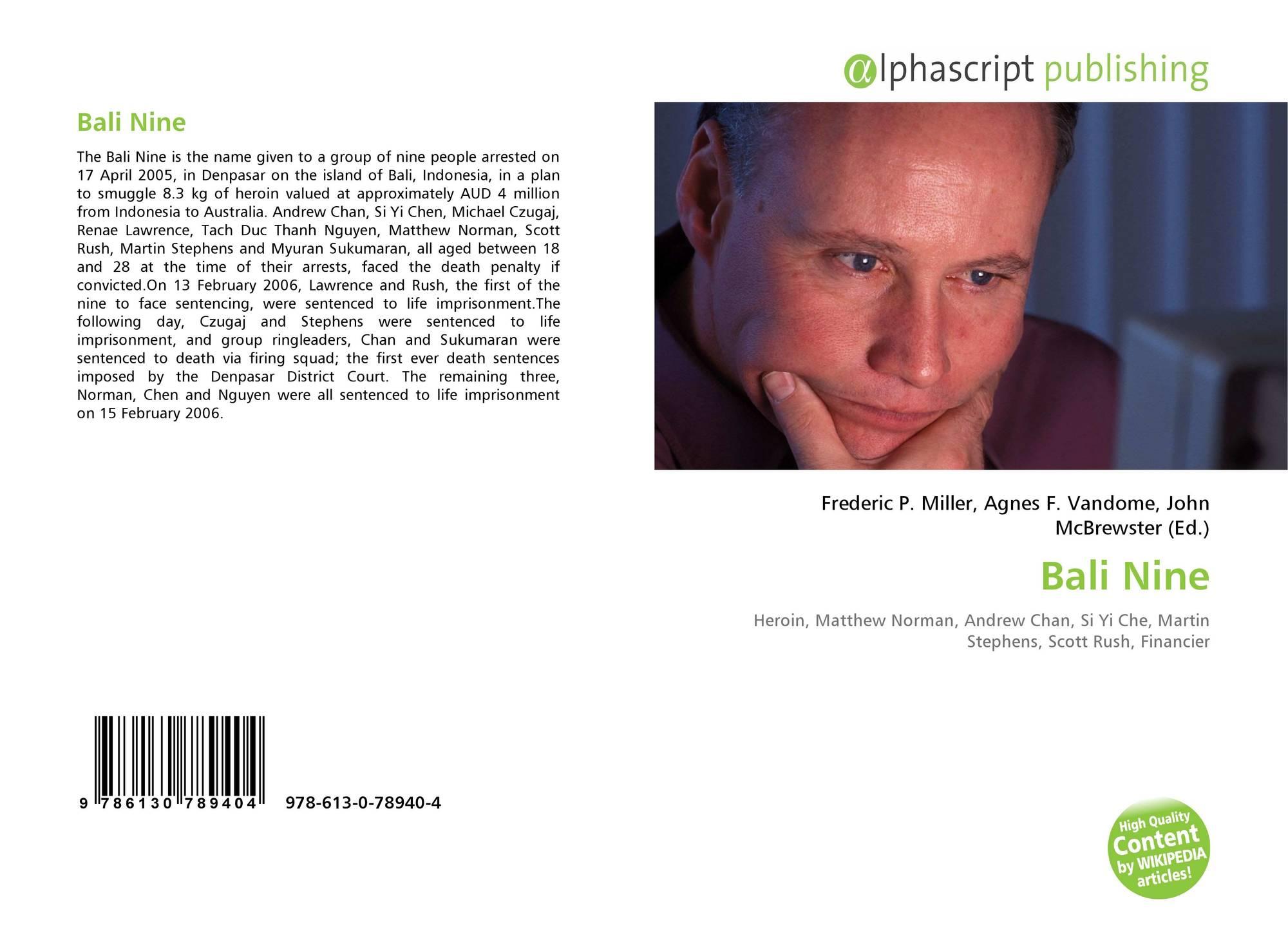 Bali Nine, 978-613-0-78940-4, 6130789408 ,9786130789404