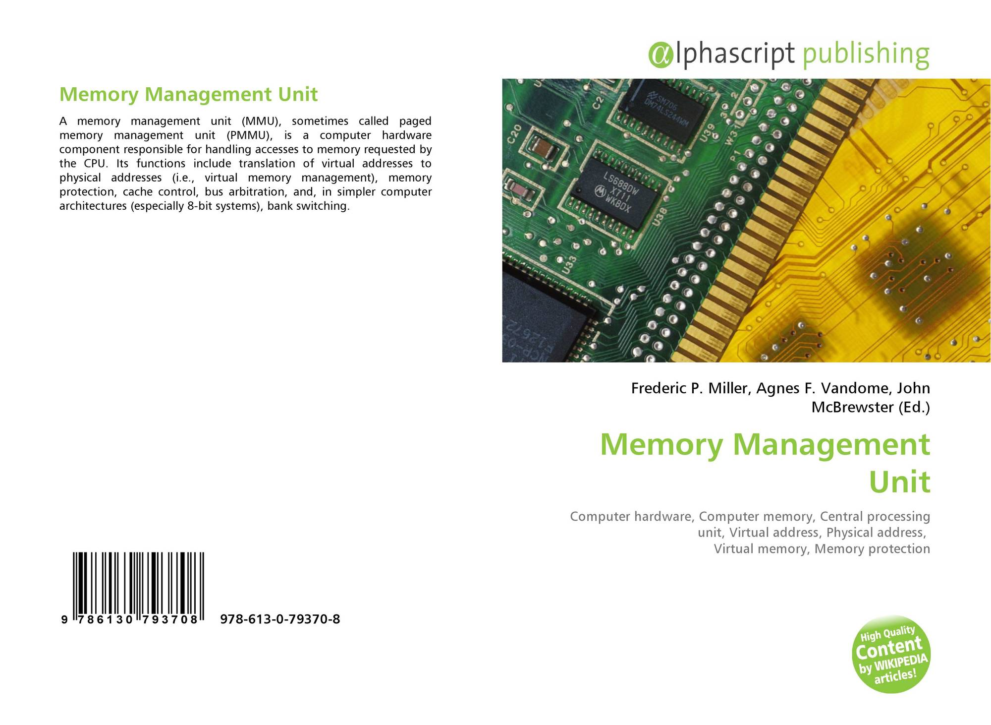Category Hardware Page 1 This Article Is About The Electronic Component For Physical Bookcover Of Memory Management Unit