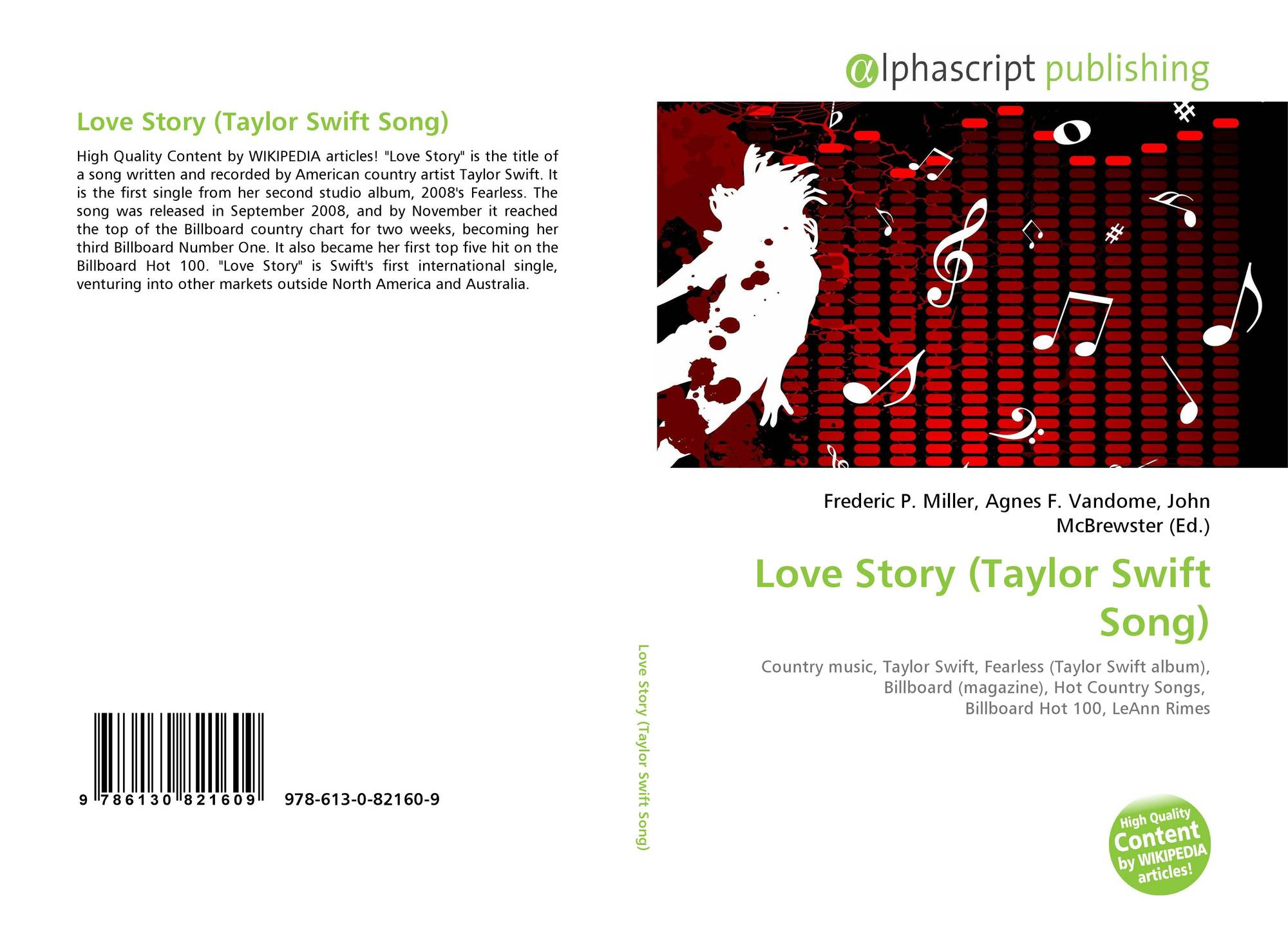 Love Story Taylor Swift Song 978 613 0 82160 9 6130821603 9786130821609