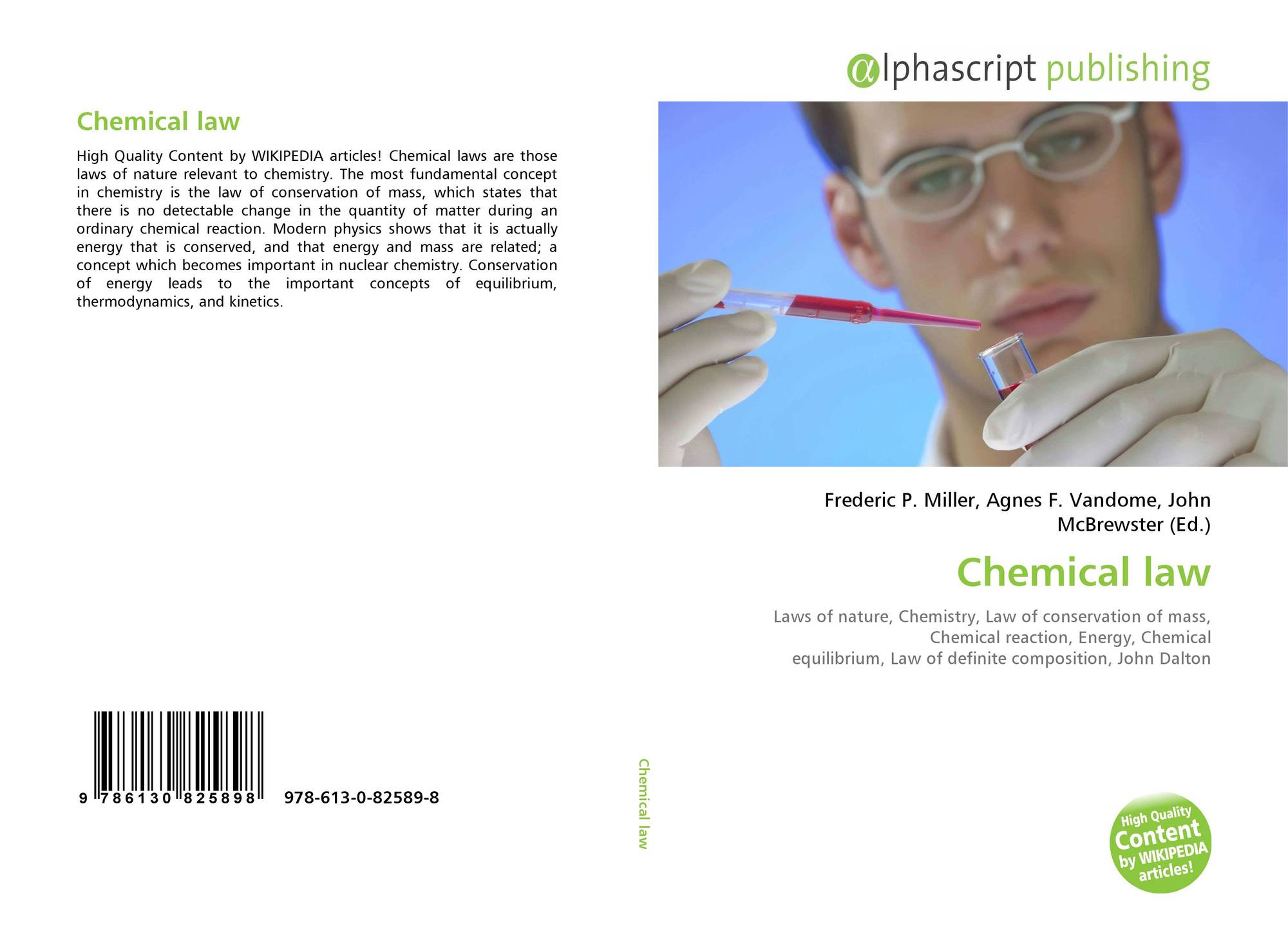 Chemical law, 978-613-0-82589-8, 6130825897 ,9786130825898