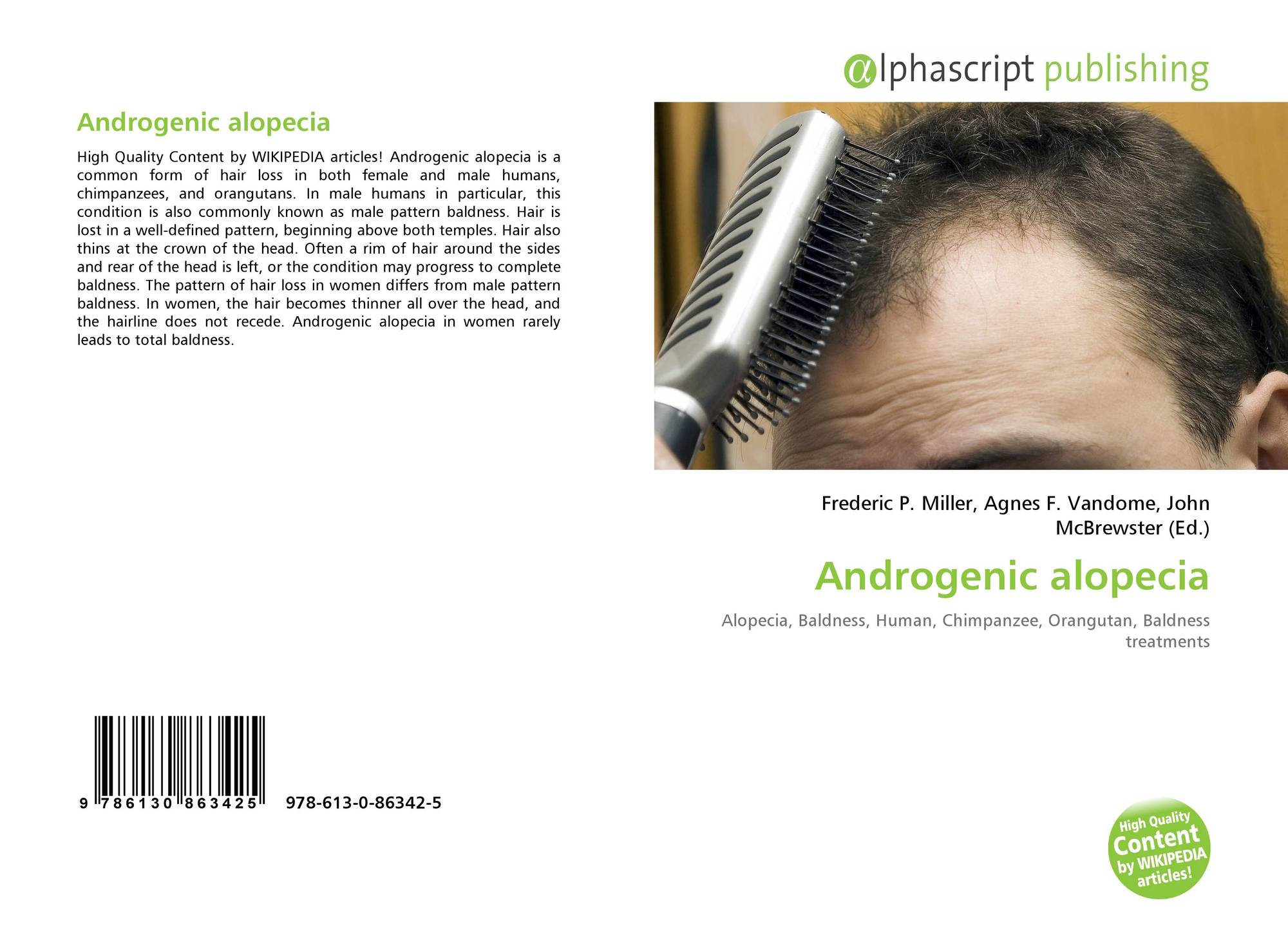 androgenetic alopecia essay Androgenic alopecia (aga mim 109200) is an androgen dependent hereditary disorder of hair with defined pattern of progressive hair thinning androgenetic alopecia also referred to as male pattern baldness (mpb) and as female pattern baldness (fpb) in men and women respectively.