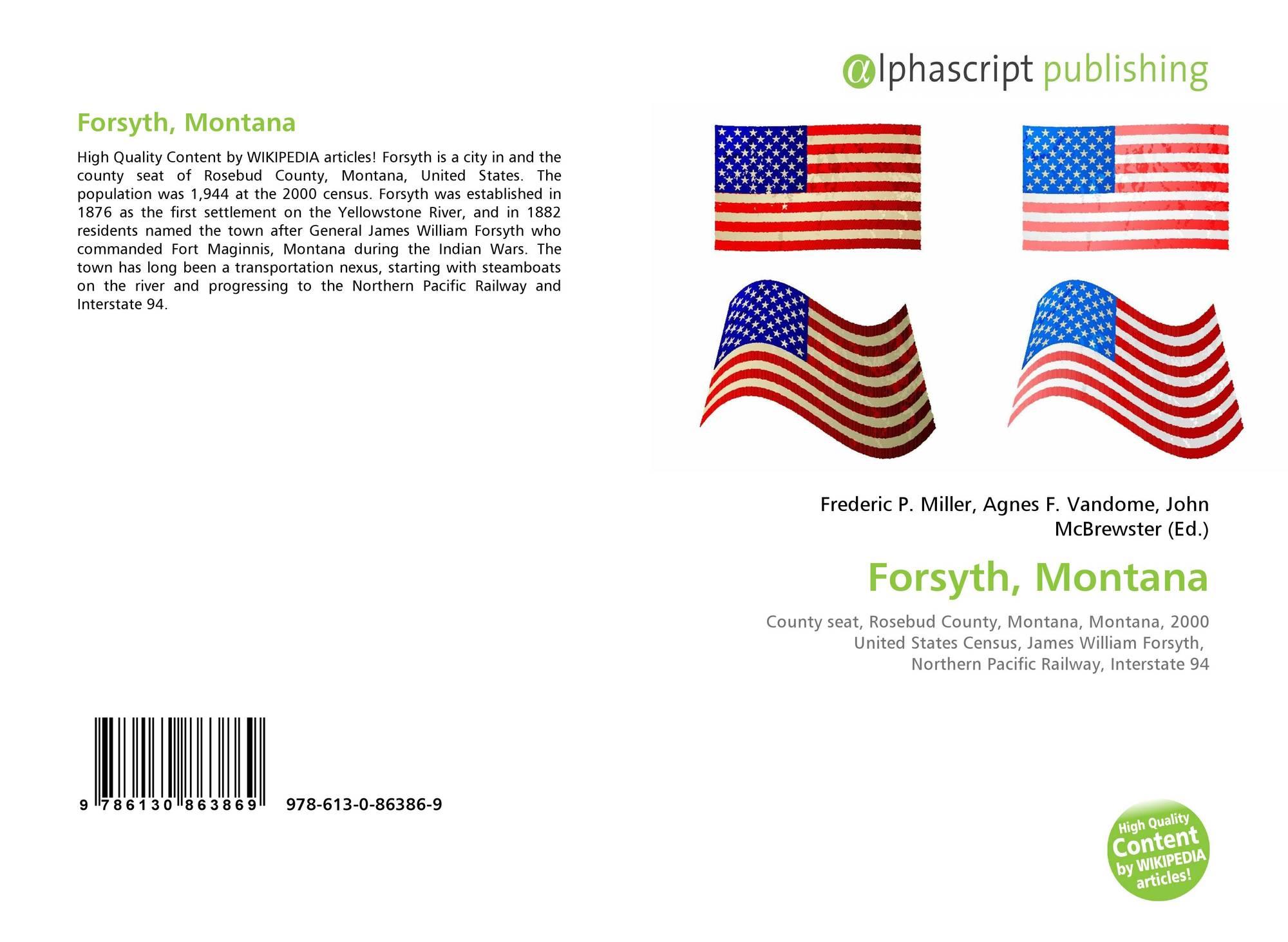Montana rosebud county forsyth - Portada Del Libro De Forsyth Montana