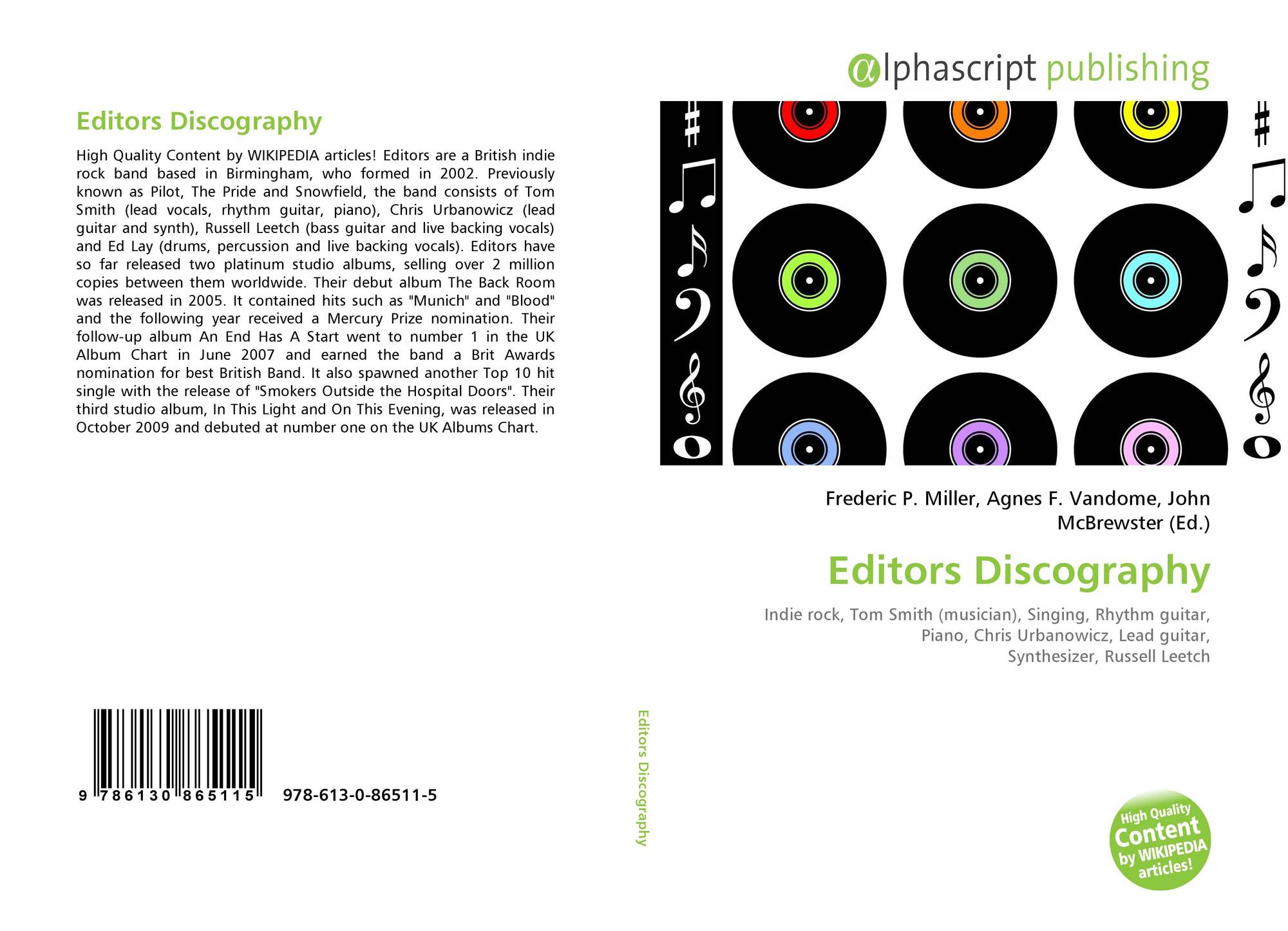 Editors Discography, 978-613-0-86511-5, 6130865112