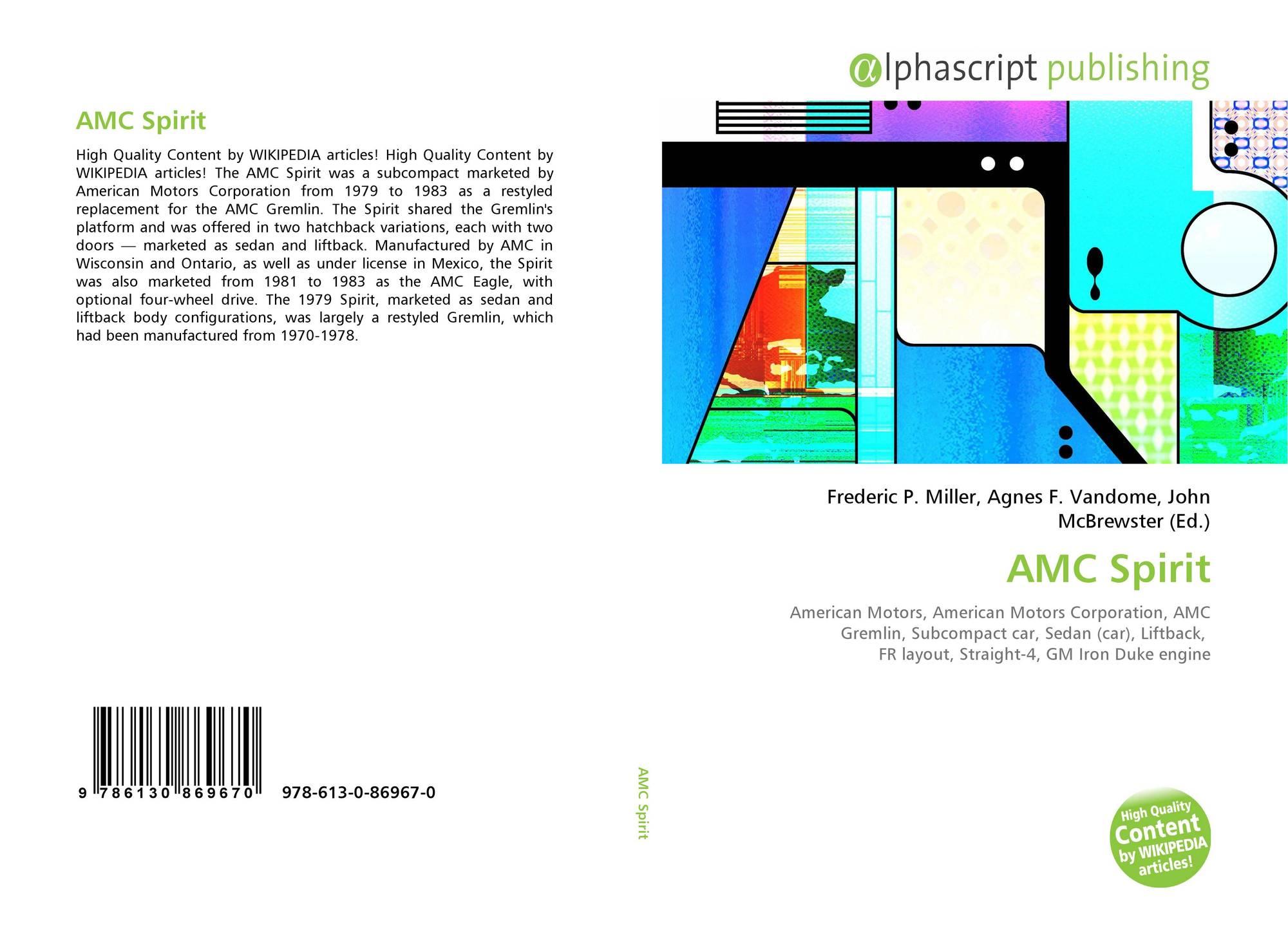 Amc Spirit 978 613 0 86967 6130869673 9786130869670 Iron Duke Engine Diagram