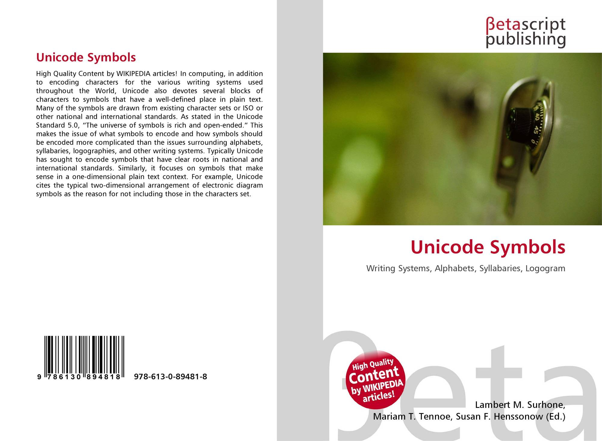 Search results for symbols bookcover of unicode symbols buycottarizona Gallery