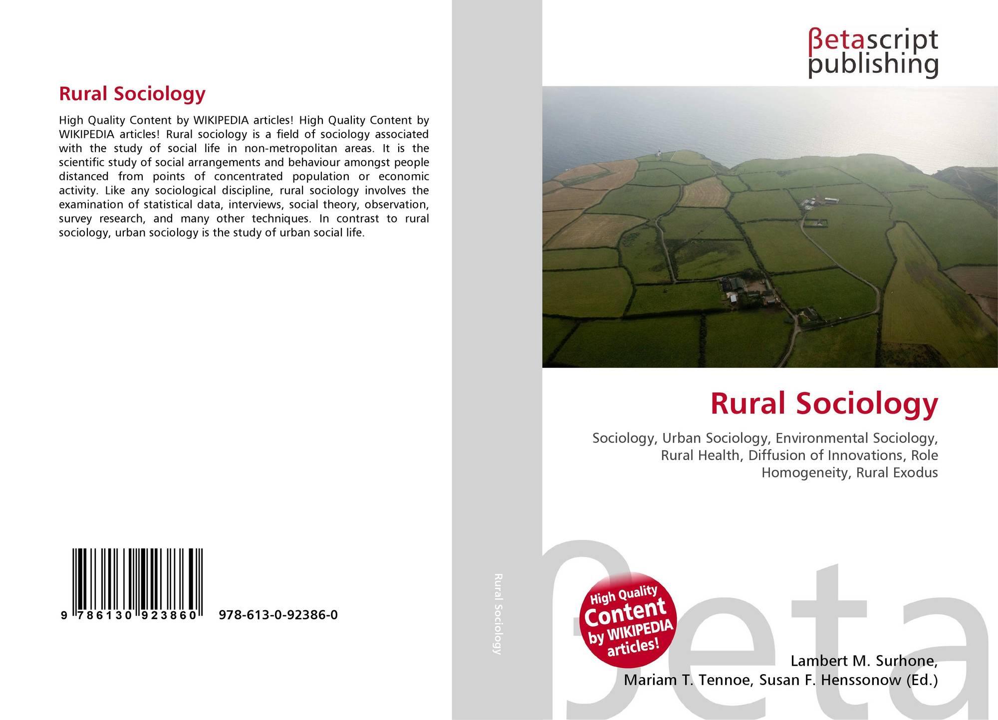 rural and urban sociology