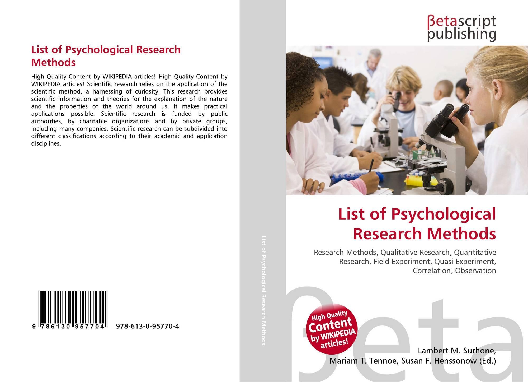 five scientific methods of research