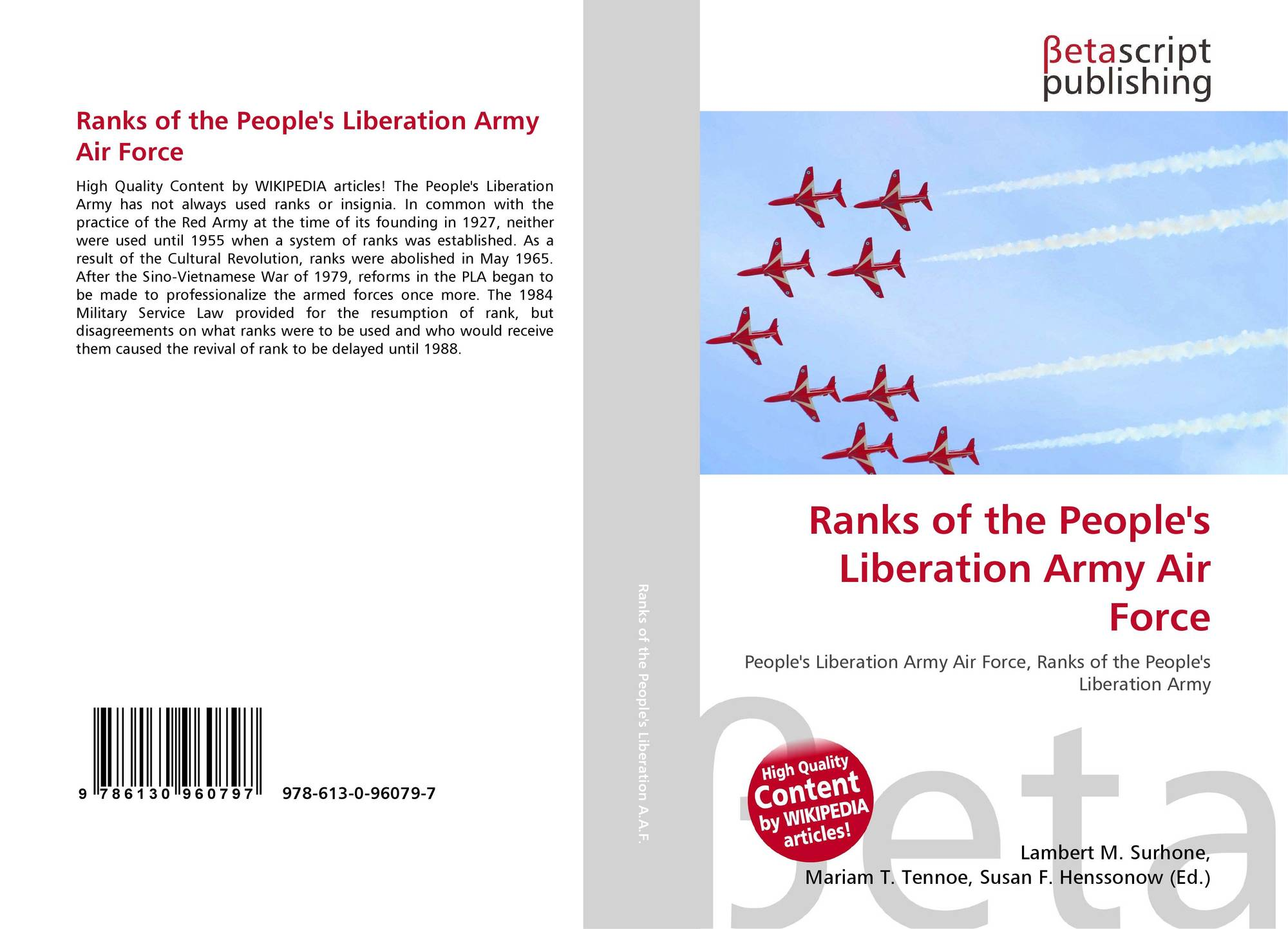 Ranks of the People's Liberation Army Air Force, 978-613-0-96079-7