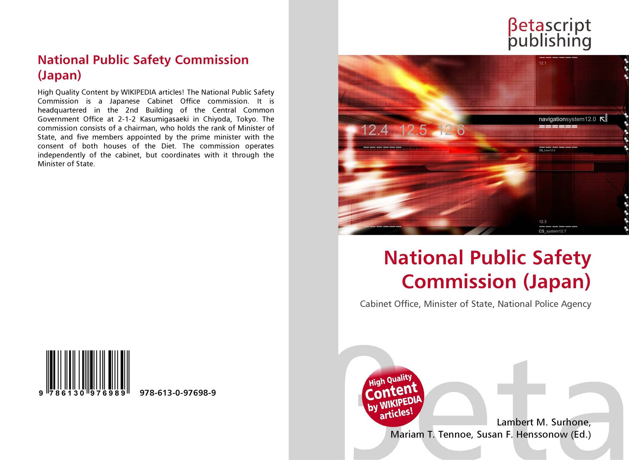 National Public Safety Commission Japan 978 613 0 97698 9