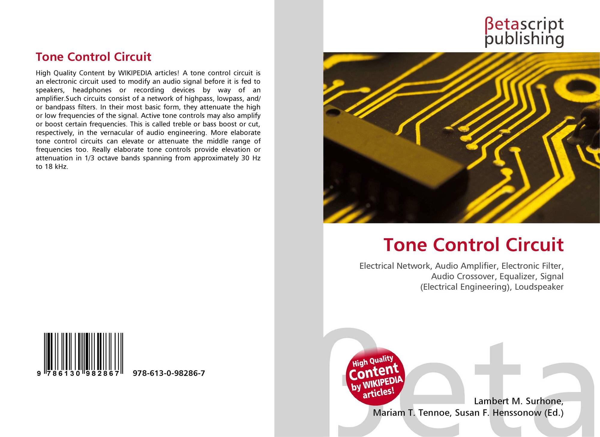 Search Results For Control Circuit Tone Bookcover Of