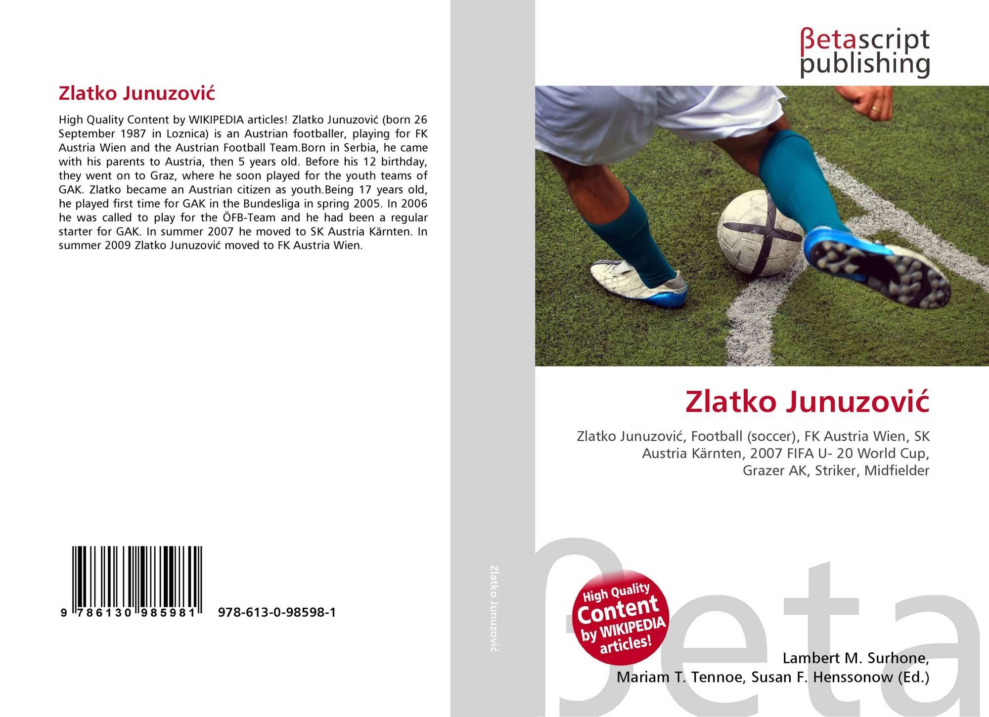 Zlatko Junuzović, 978-613-0-98598-1, 6130985983 ,9786130985981