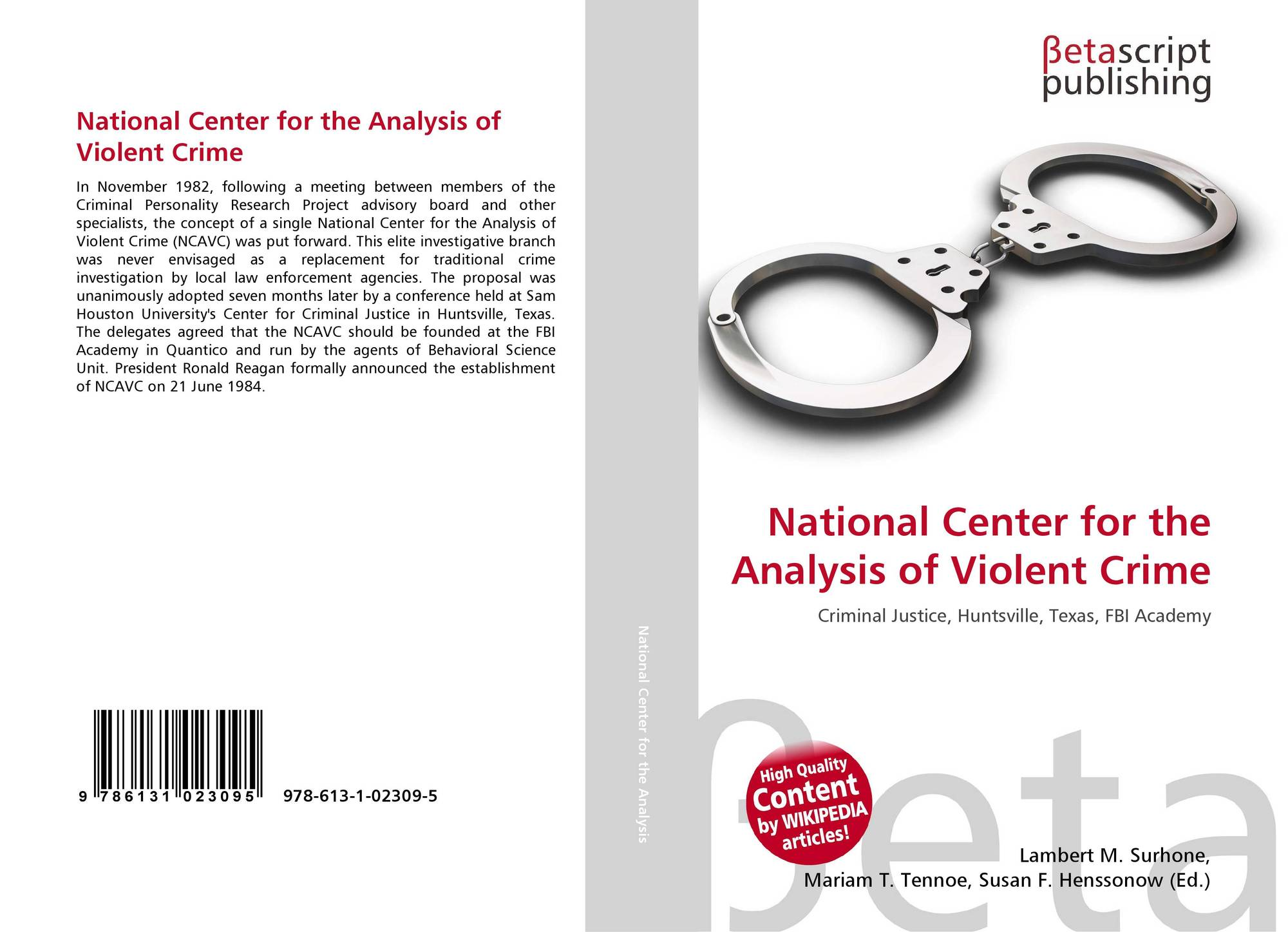 the analysis of drugs and crime