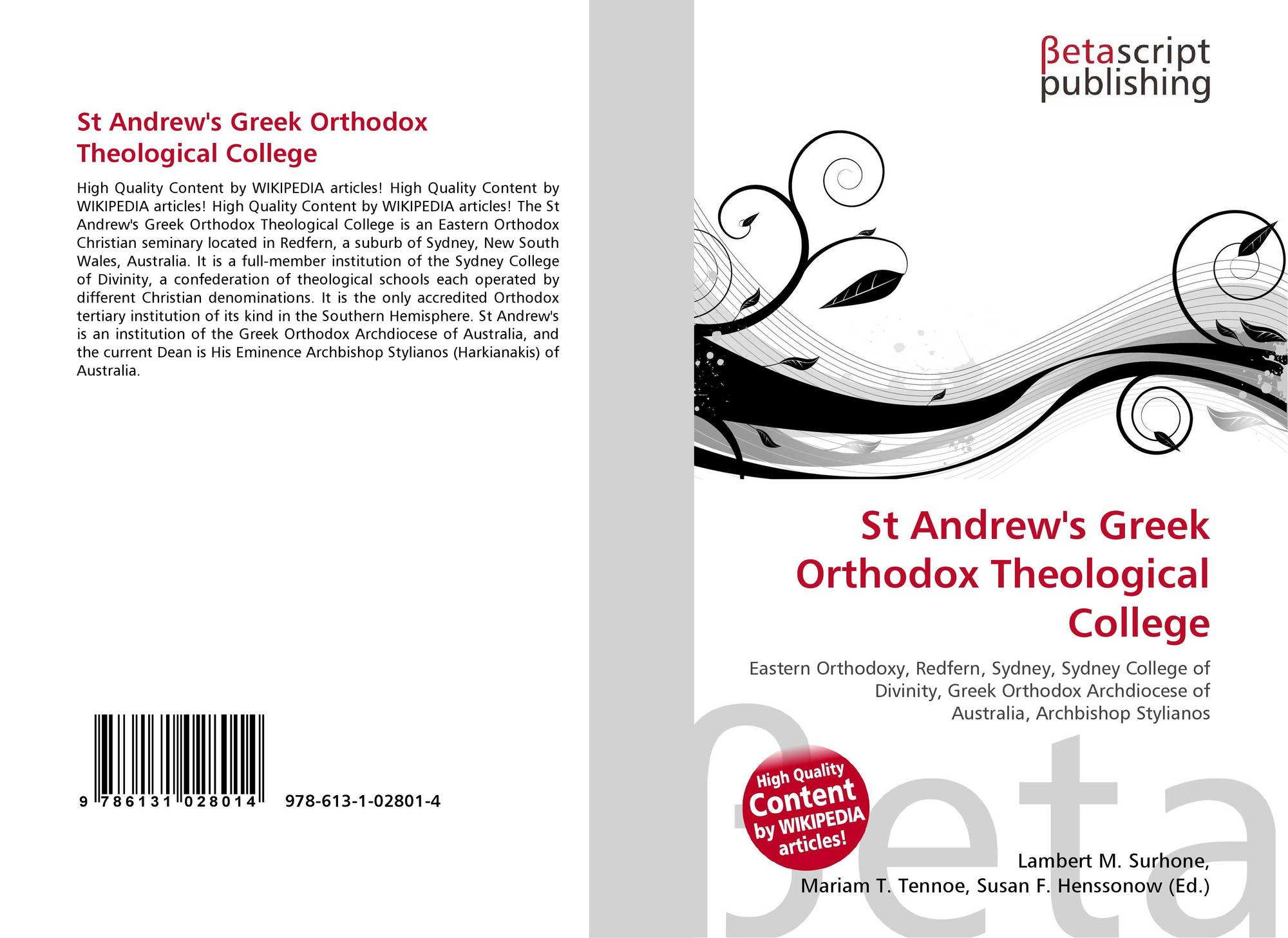 St Andrew's Greek Orthodox Theological College, 978-613-1