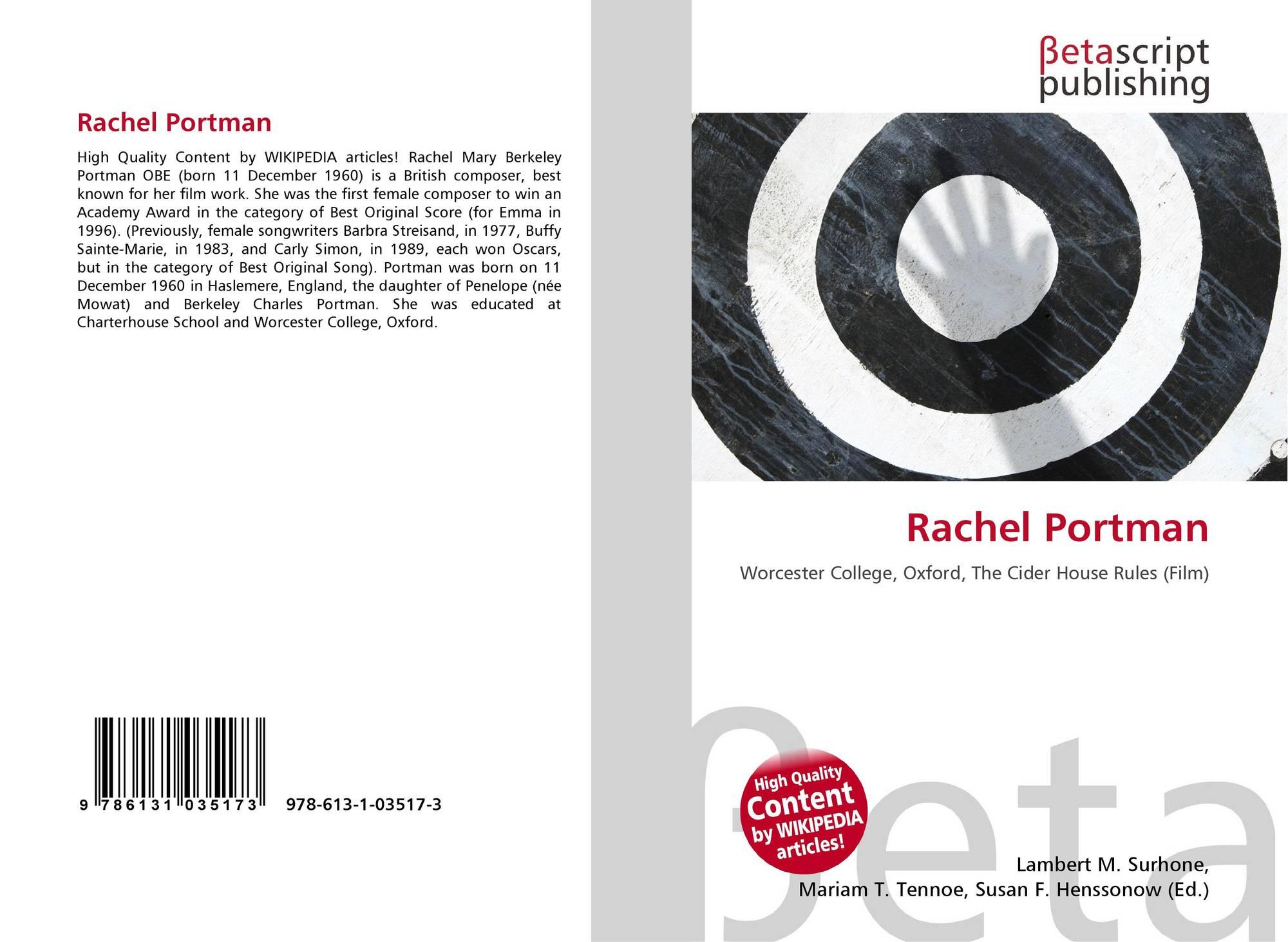 Rachel Portman, 978-613-1-03517-3, 6131035172 ,9786131035173