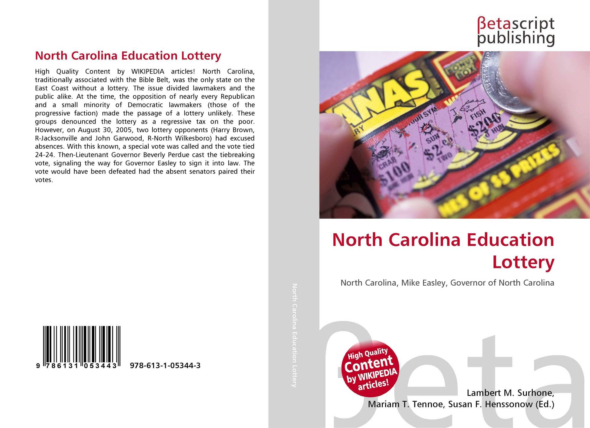North Carolina Education Lottery, 978-613-1-05344-3