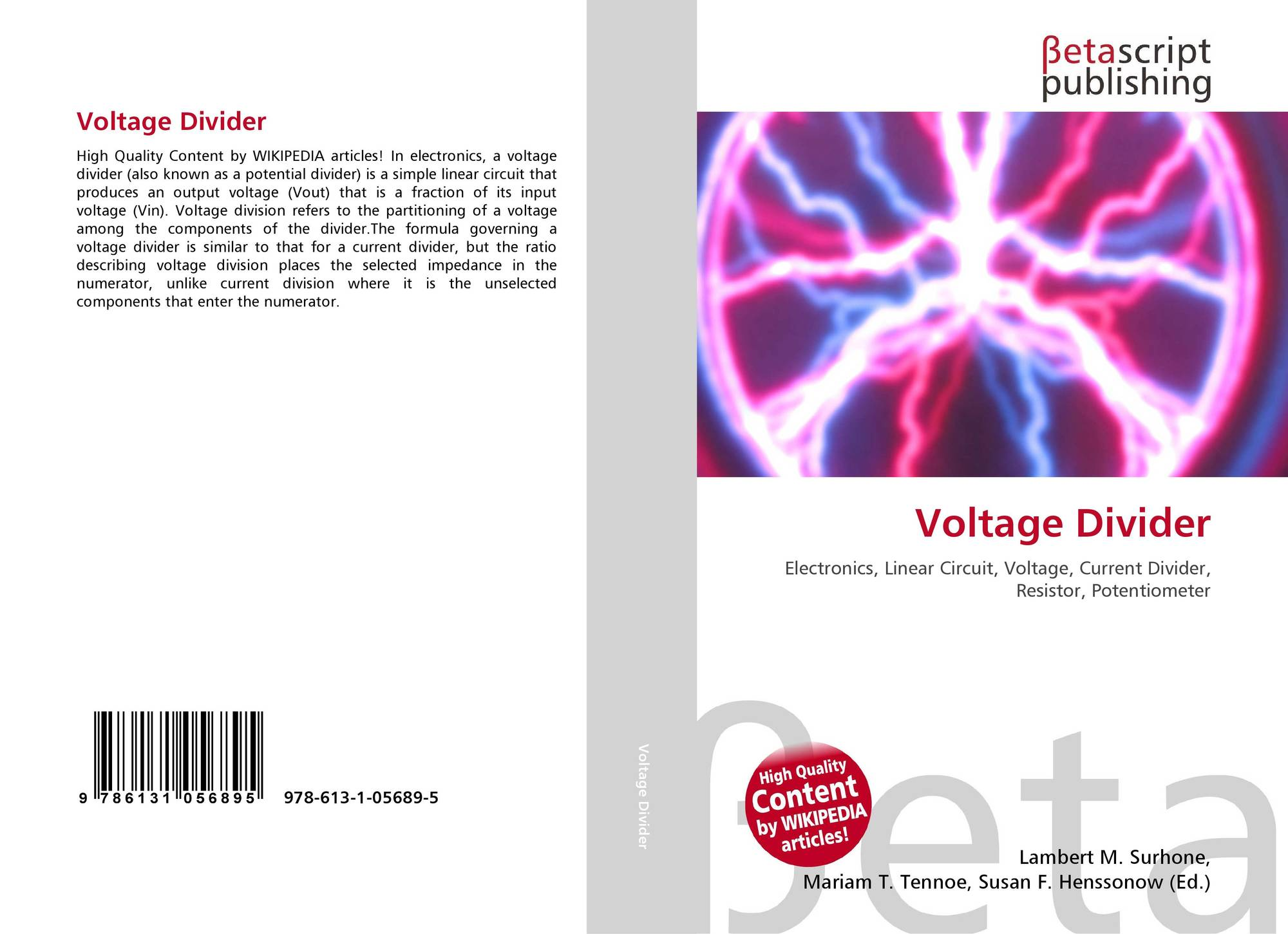 Voltage Divider 978 613 1 05689 5 6131056897 9786131056895 Potential Circuit Bookcover Of