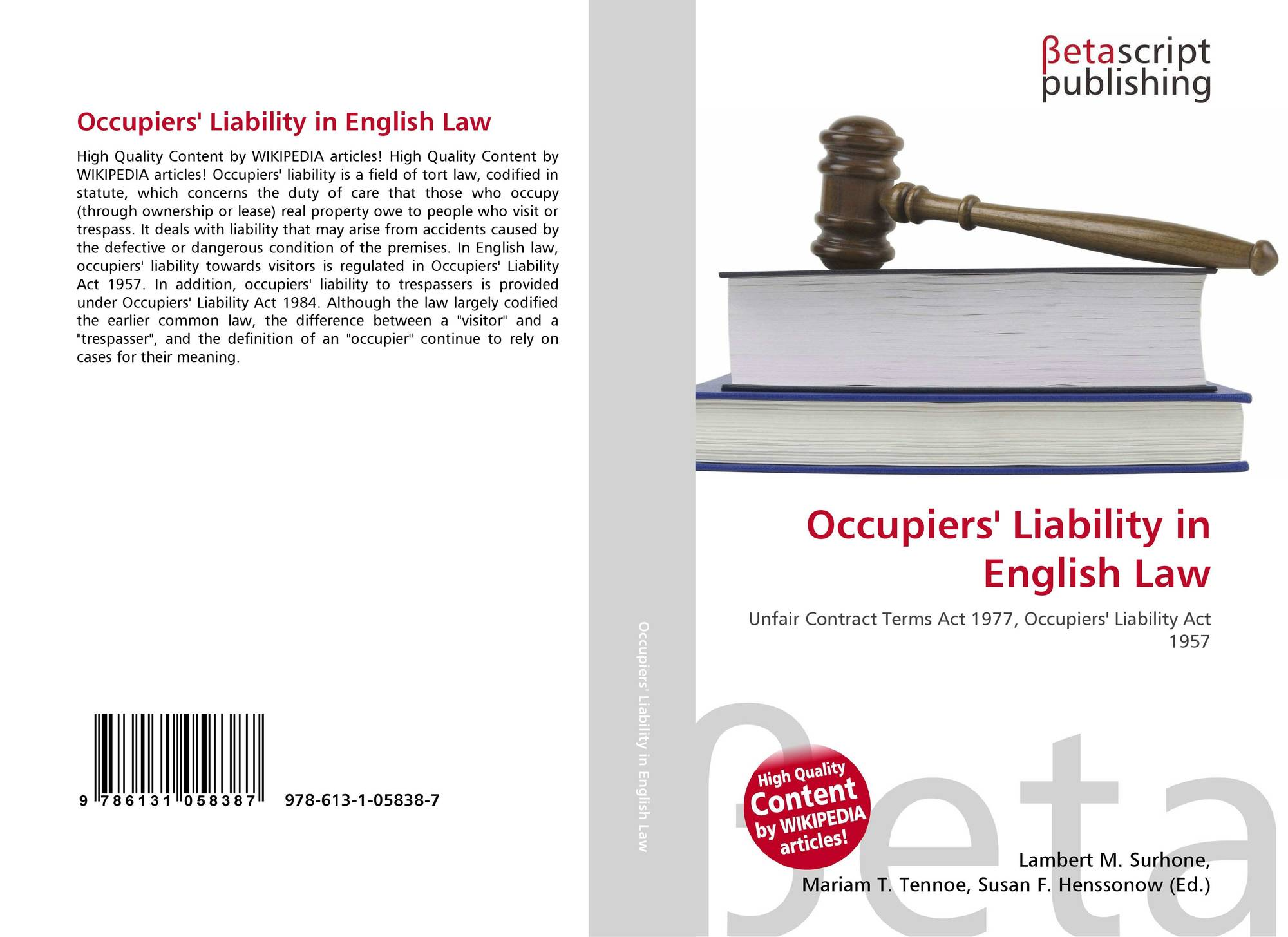 introduction to occupier's liability in singapore Singapore - guide to contaminated land singapore – regulatory is the liability passed on to the owner or the occupier the liability may be passed to the.