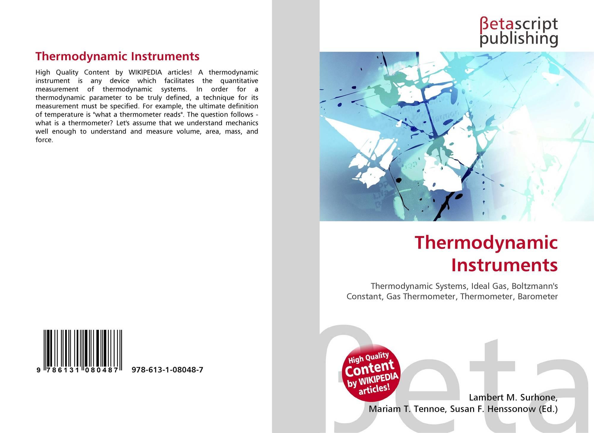thermodynamic instruments 978 613 1 08048 7 6131080488 9786131080487