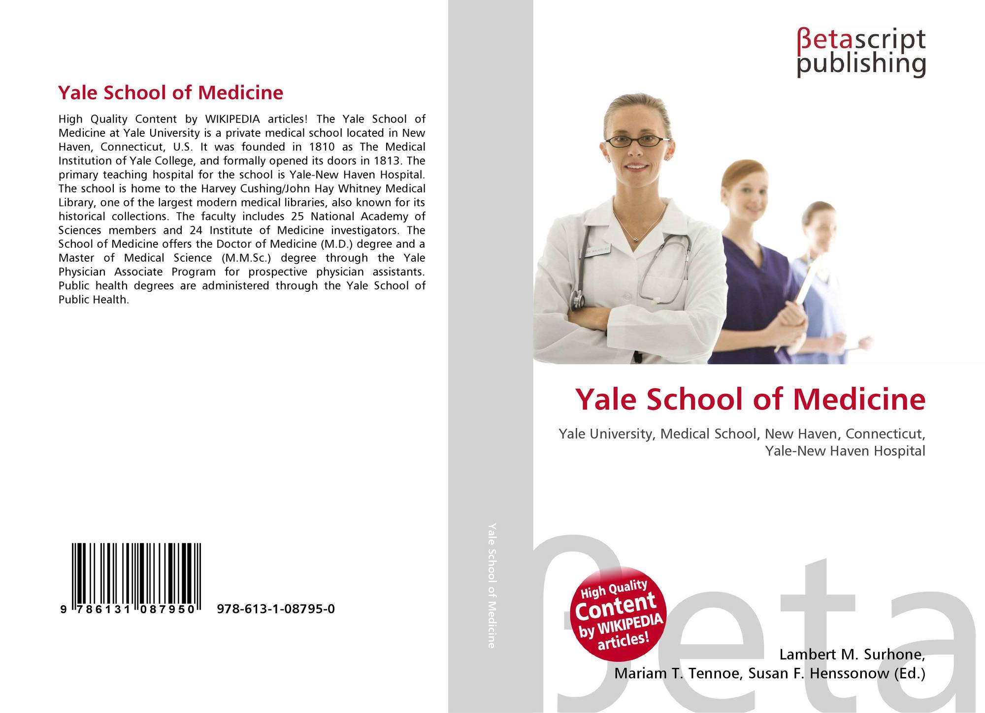 Yale School of Medicine, 978-613-1-08795-0, 6131087954