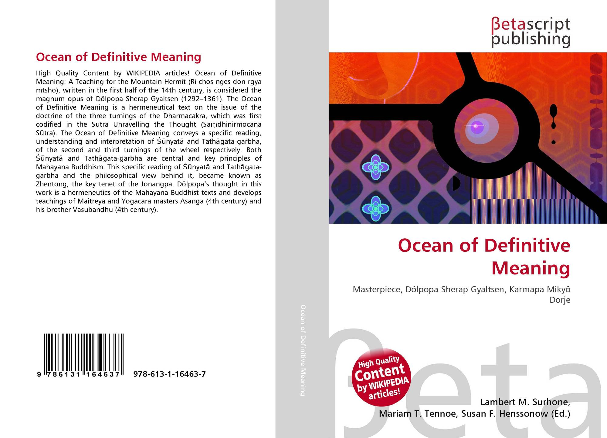definitive meaning. bookcover of ocean definitive meaning. 9786131164637 meaning