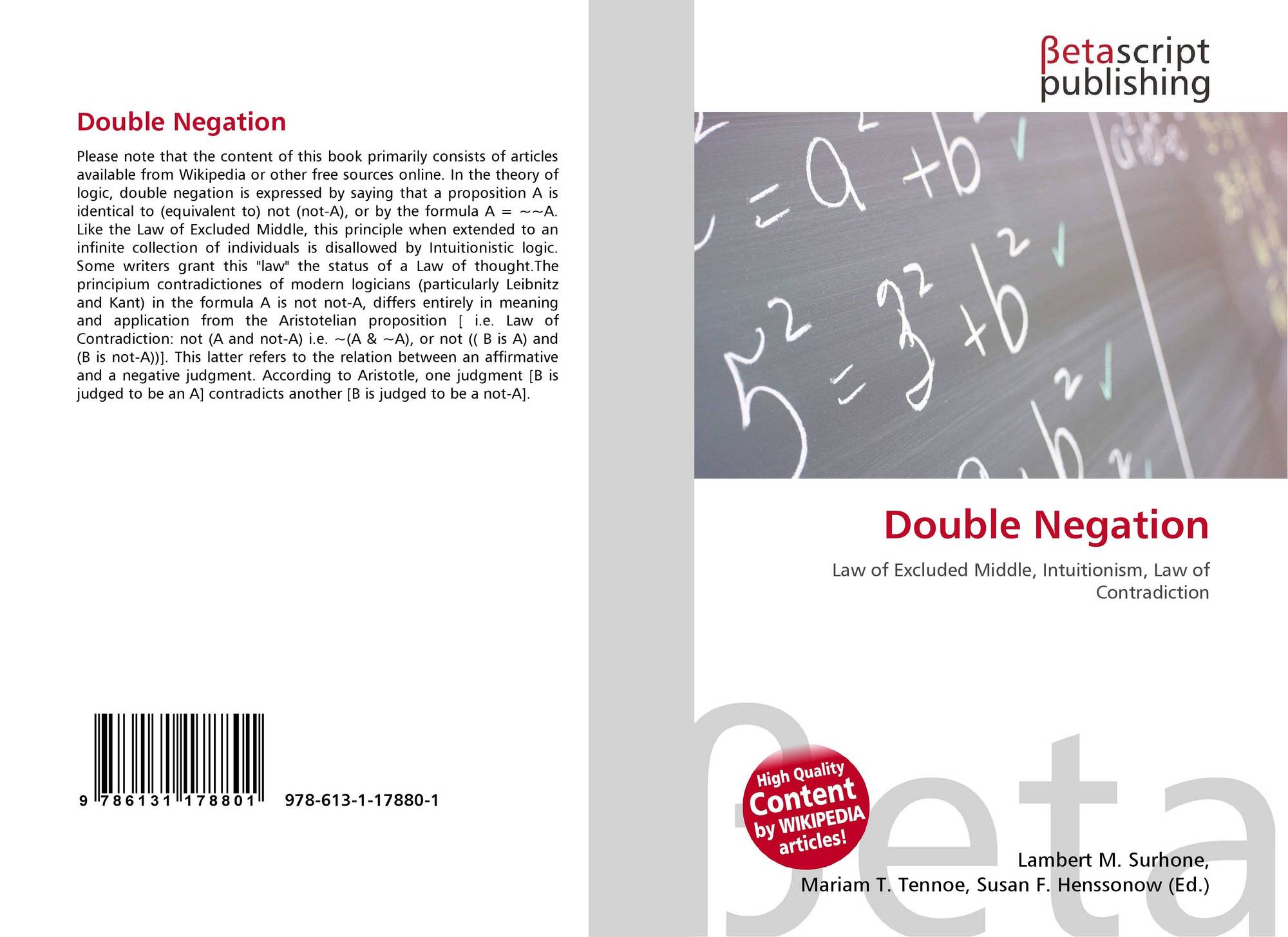 double negation Double negation is very common in french, particularly informal french learn the rules when using double negatives in french.