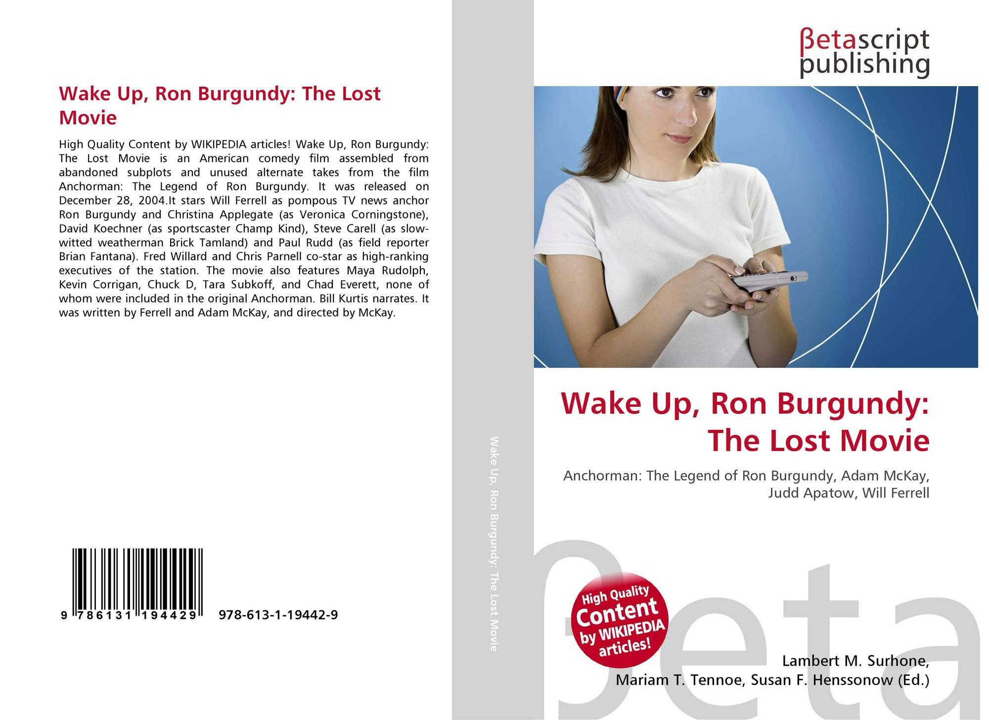 Wake Up Ron Burgundy The Lost Movie  Wikipedia