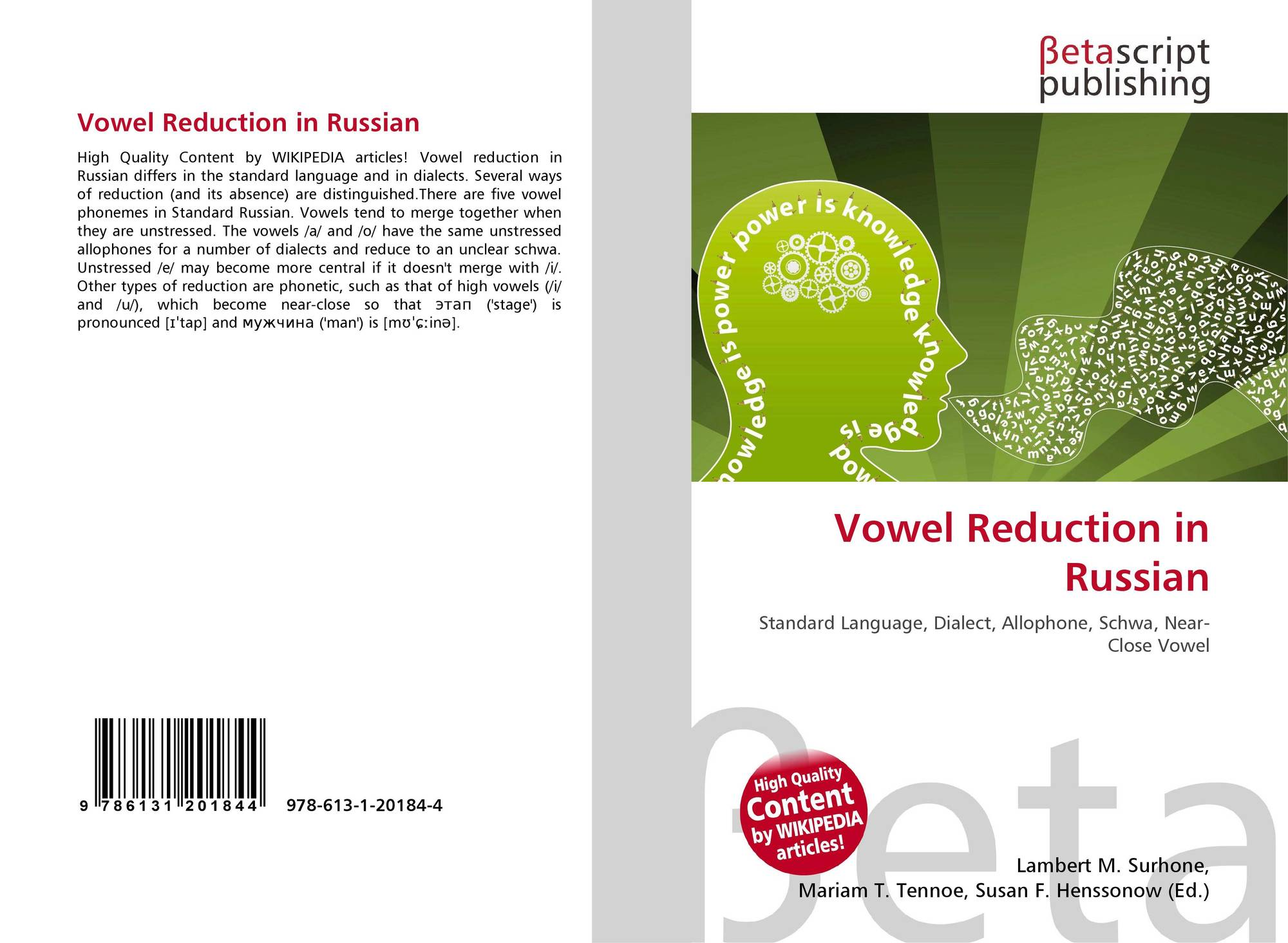 Vowel Reduction In Russian The 89