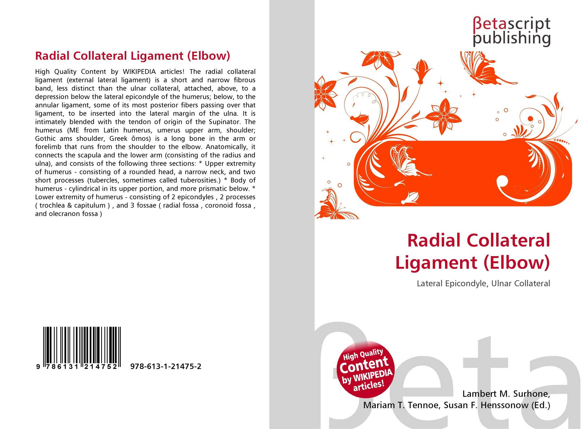 Radial Collateral Ligament Elbow 978 613 1 21475 2 6131214751