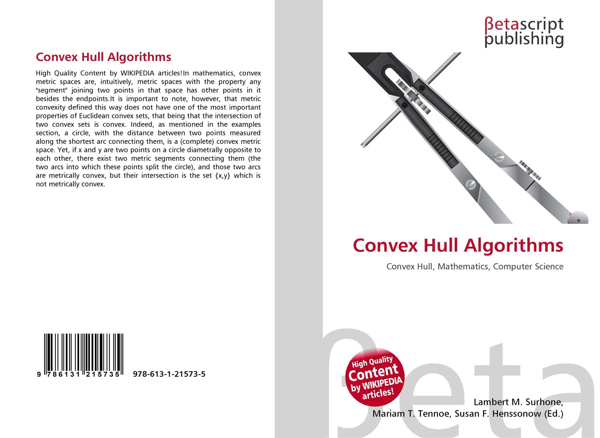 Convex Hull Algorithms, 978-613-1-21573-5, 6131215731