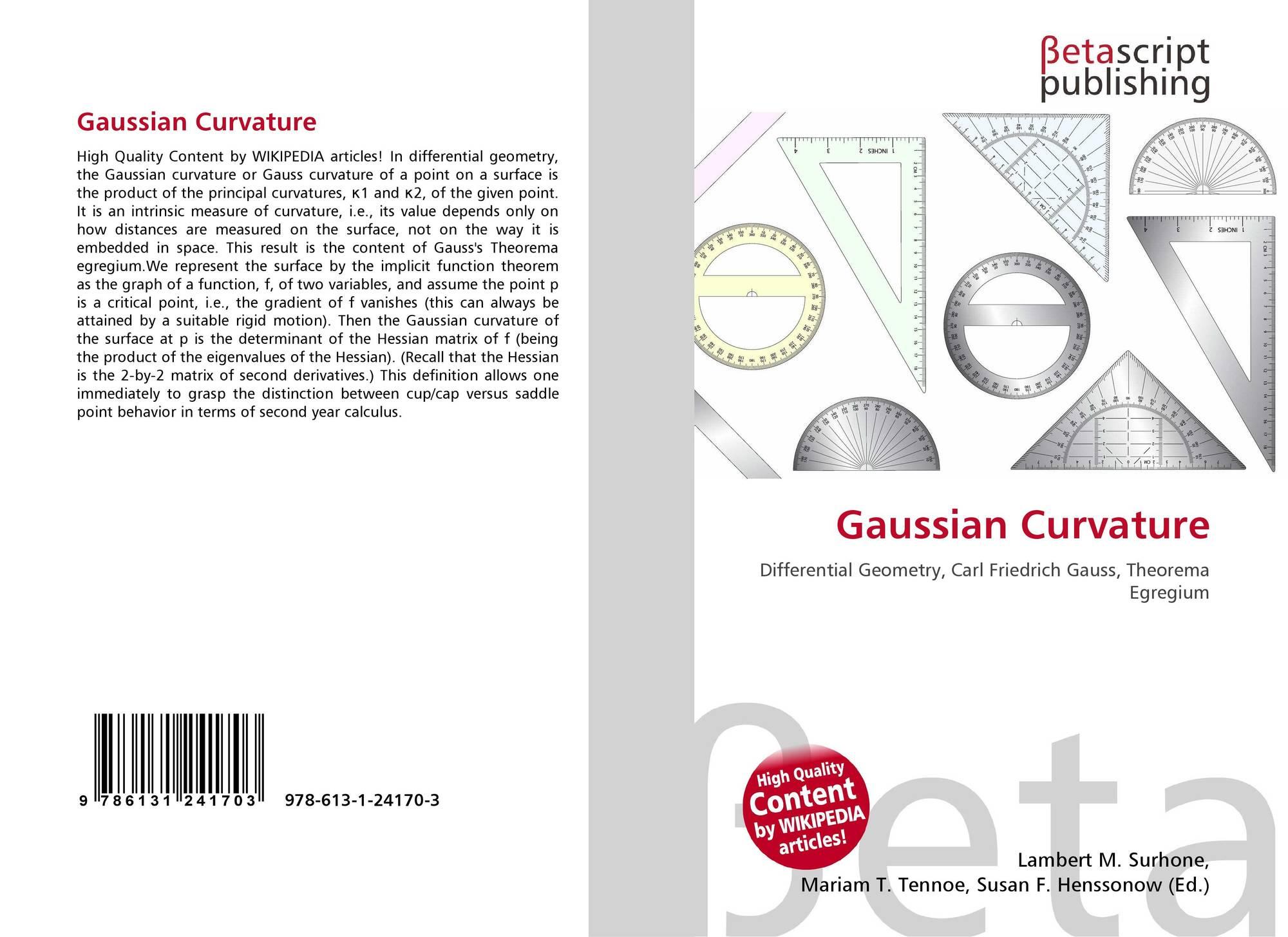 Gaussian Curvature, 978-613-1-24170-3, 6131241708 ,9786131241703