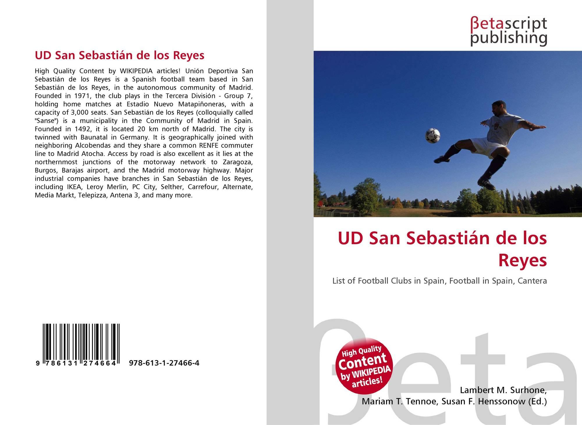 Ud San Sebastián De Los Reyes 978 613 1 27466 4 6131274665