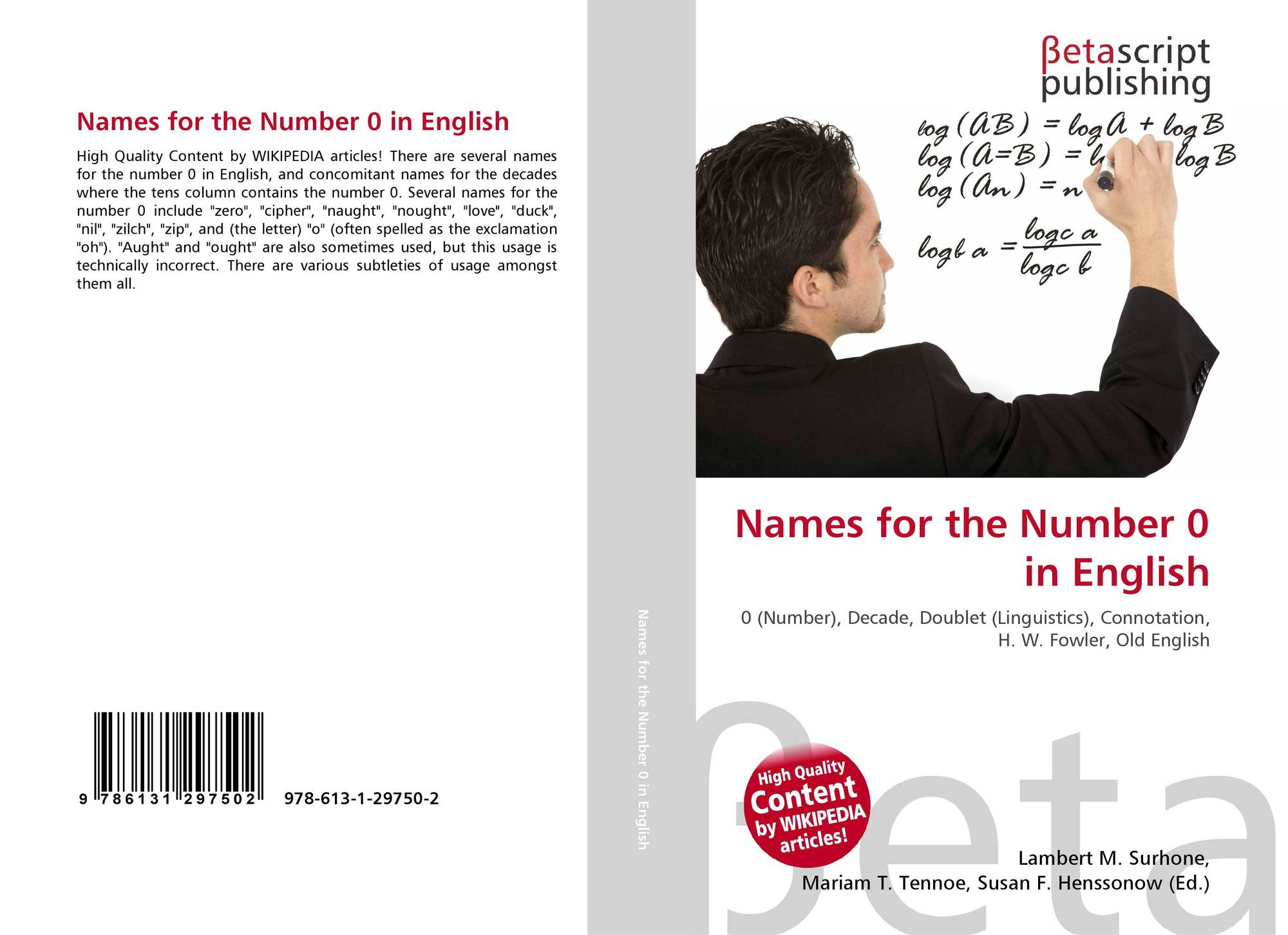 Names for the Number 0 in English, 978-613-1-29750-2