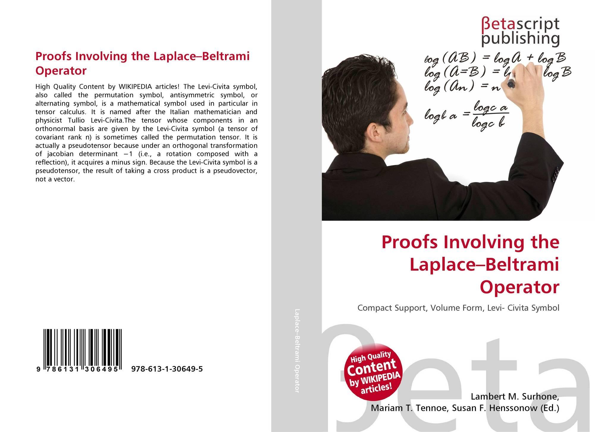 Proofs Involving The Laplacebeltrami Operator 978 613 1 30649 5