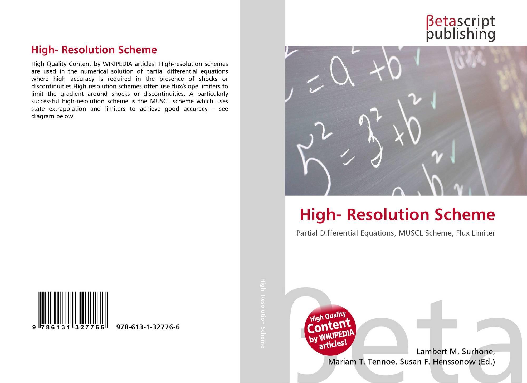 High- Resolution Scheme, 978-613-1-32776-6, 6131327769