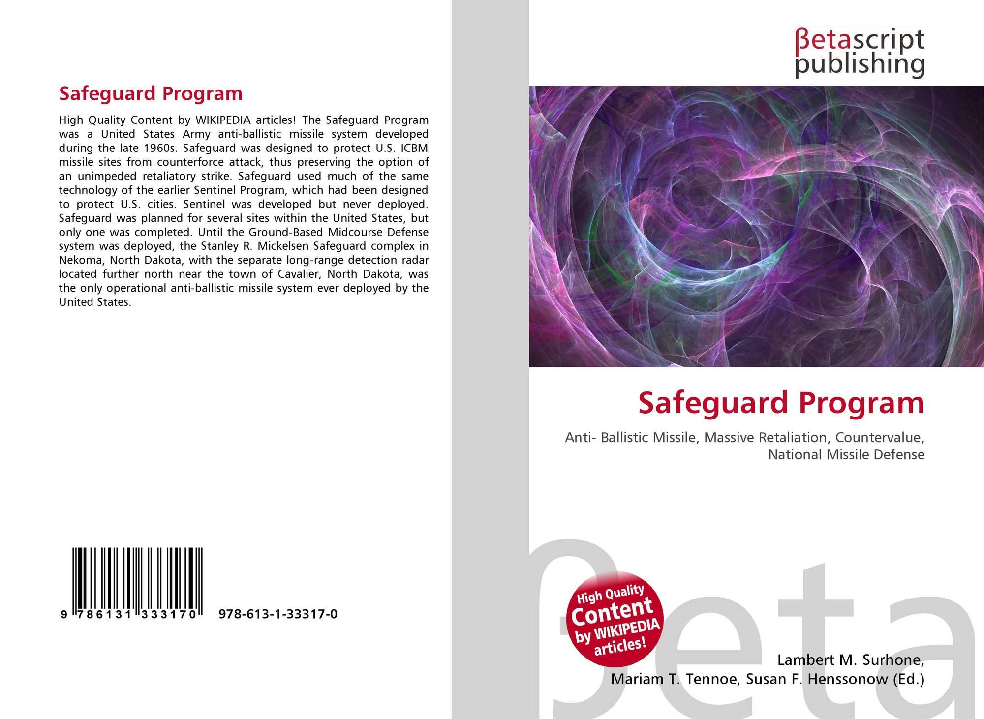 Safeguard Program, 978-613-1-33317-0, 6131333173 ,9786131333170