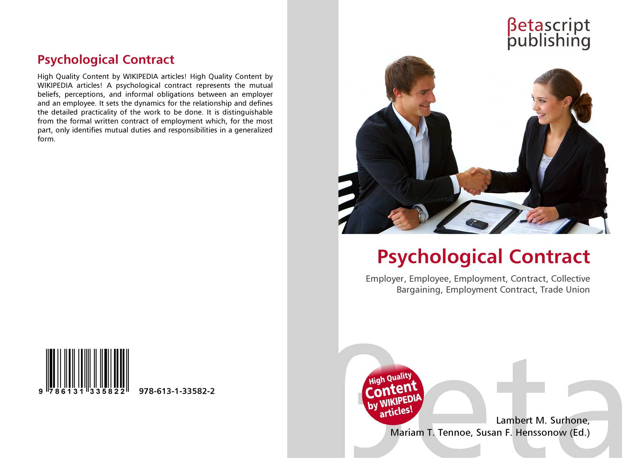 psychological contract essays The william and flora hewlett foundation (hewlett) is sponsoring the automated  student assessment prize (asap) hewlett is appealing to data scientists and.