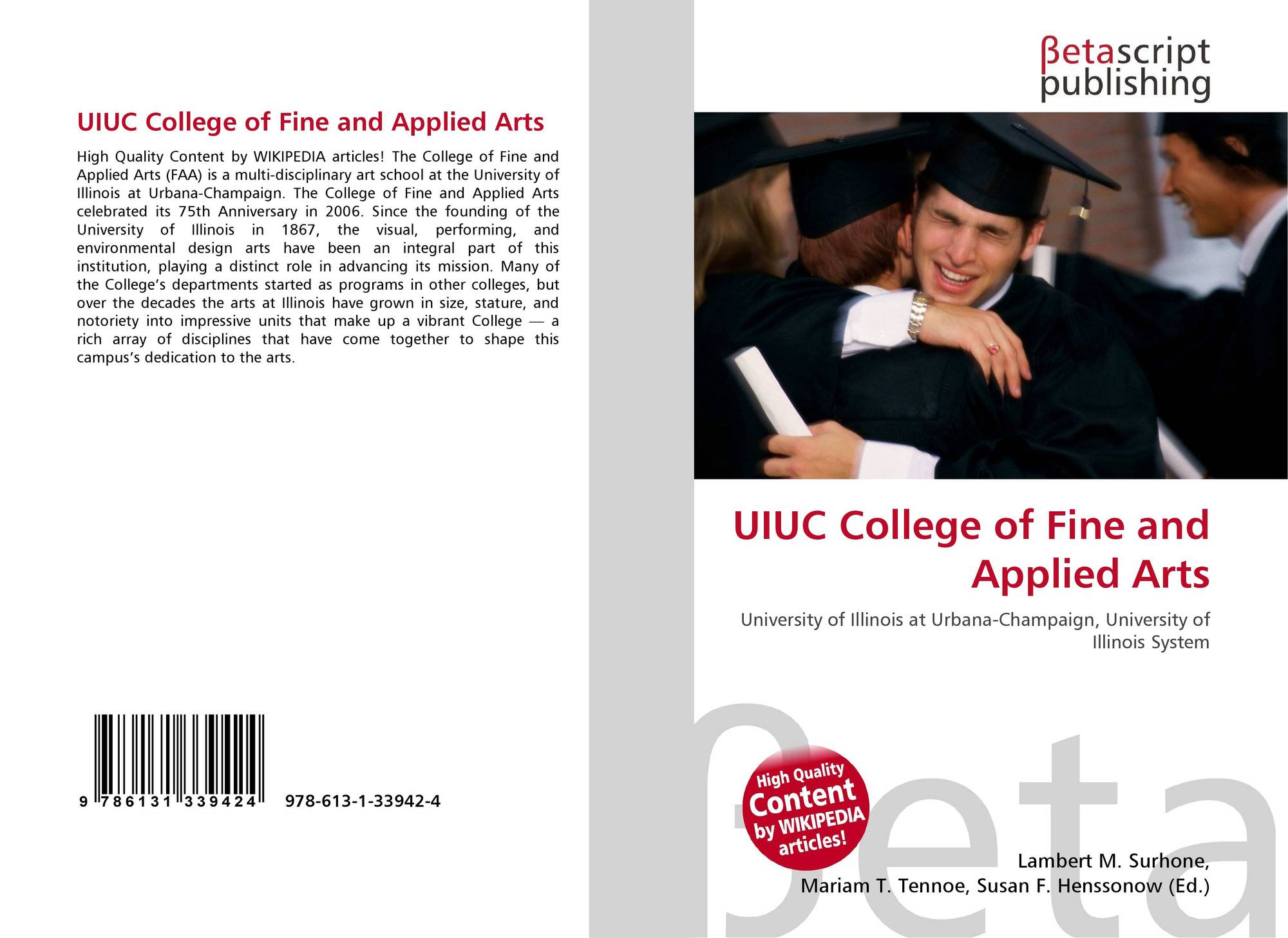 Uiuc College Of Fine And Applied Arts 978 613 1 33942 4 6131339422 9786131339424