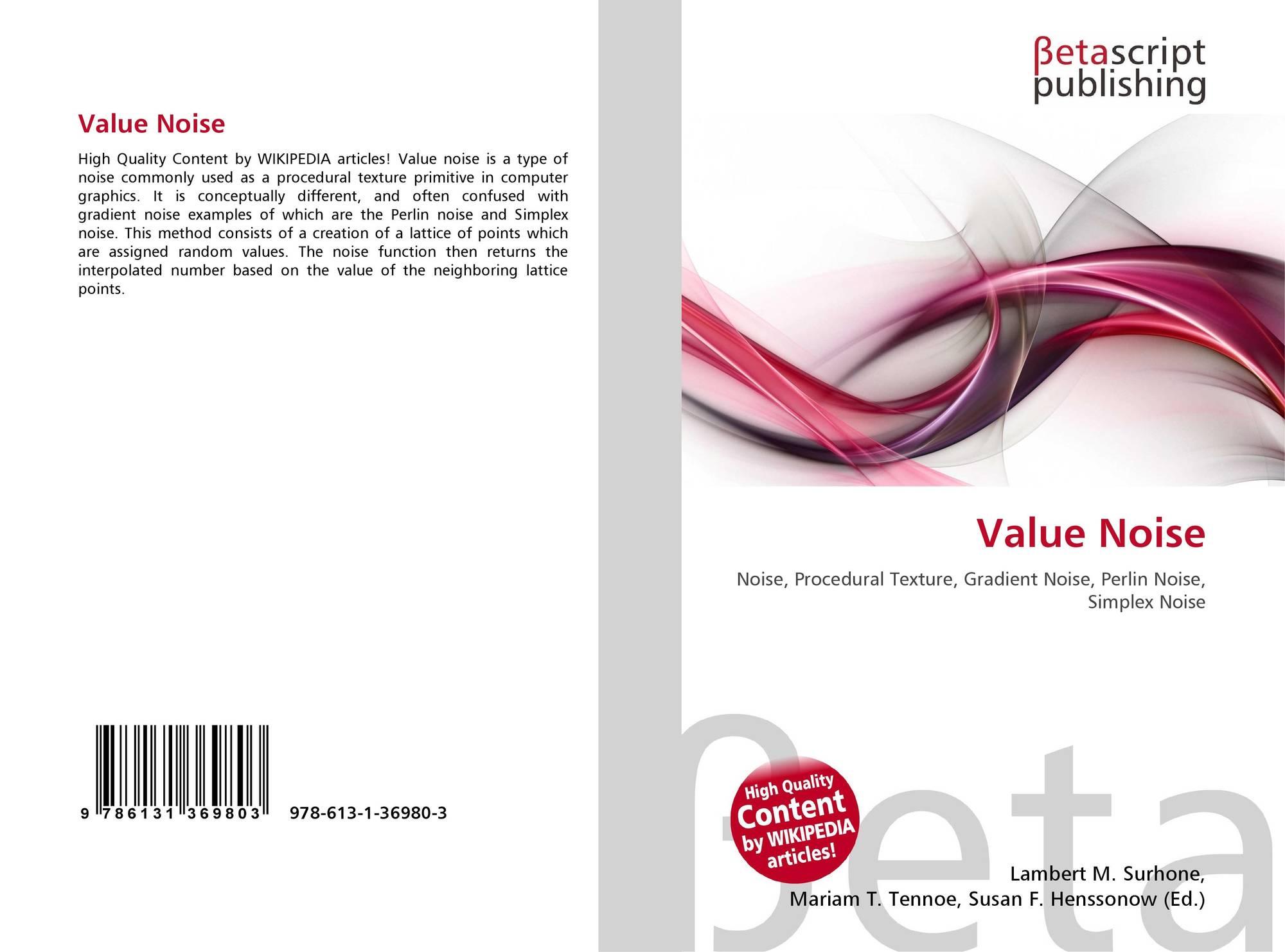 Value Noise, 978-613-1-36980-3, 6131369801 ,9786131369803
