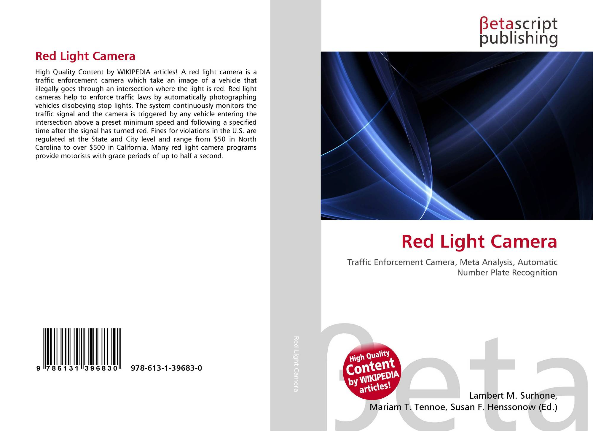 Red Light Camera, 978-613-1-39683-0, 6131396833 ,9786131396830
